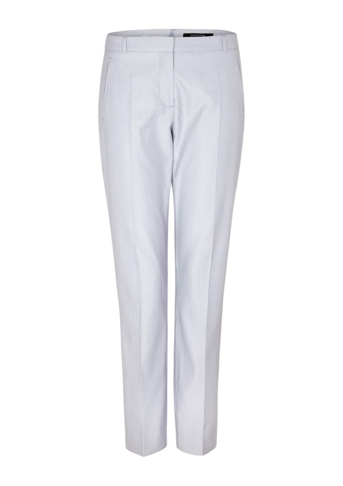 COMMA Kelnės su kantu šviesiai mėlyna