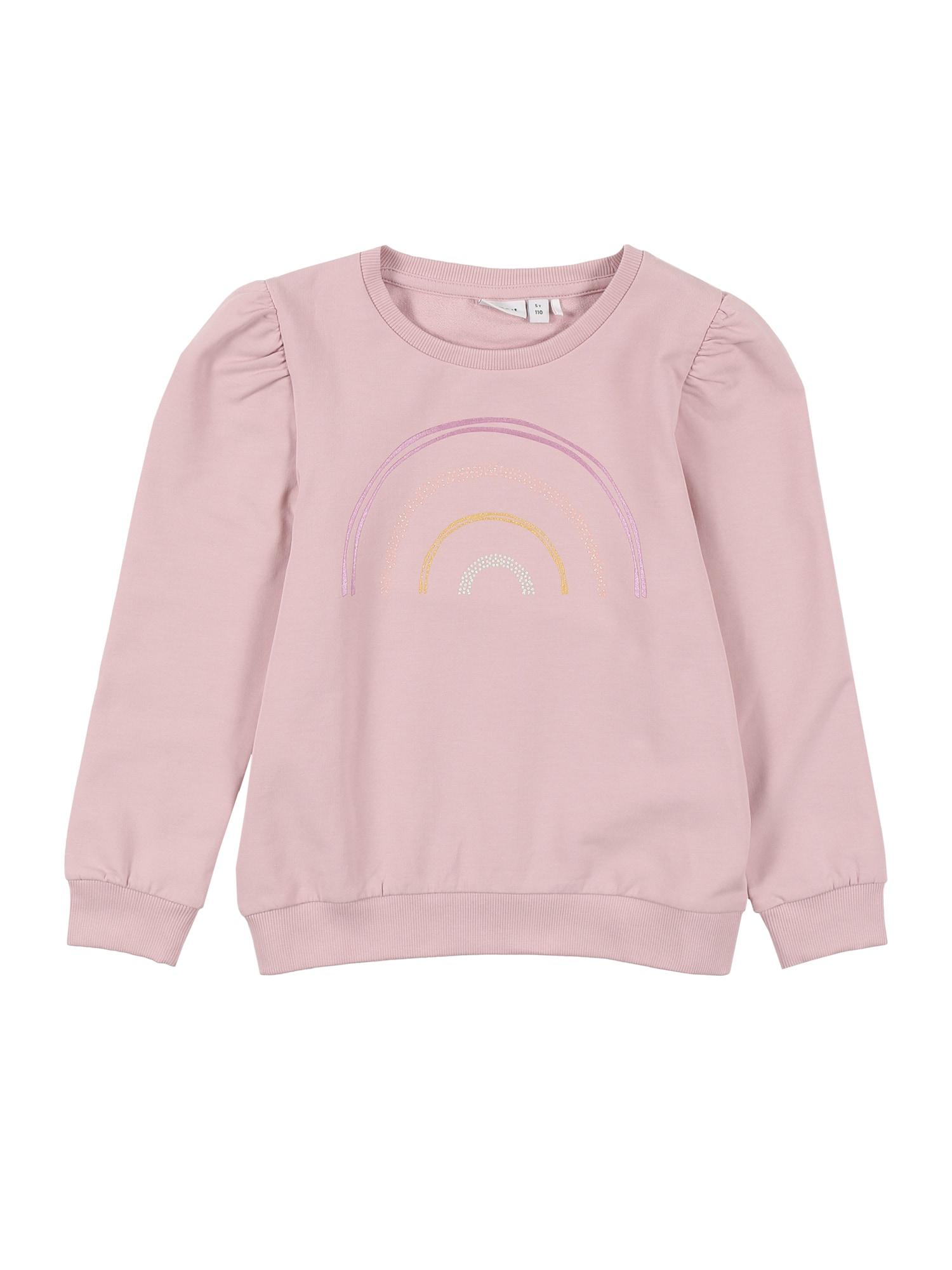 NAME IT Megztinis be užsegimo 'TEATE' purpurinė / rožių spalva / oranžinė / sidabrinė