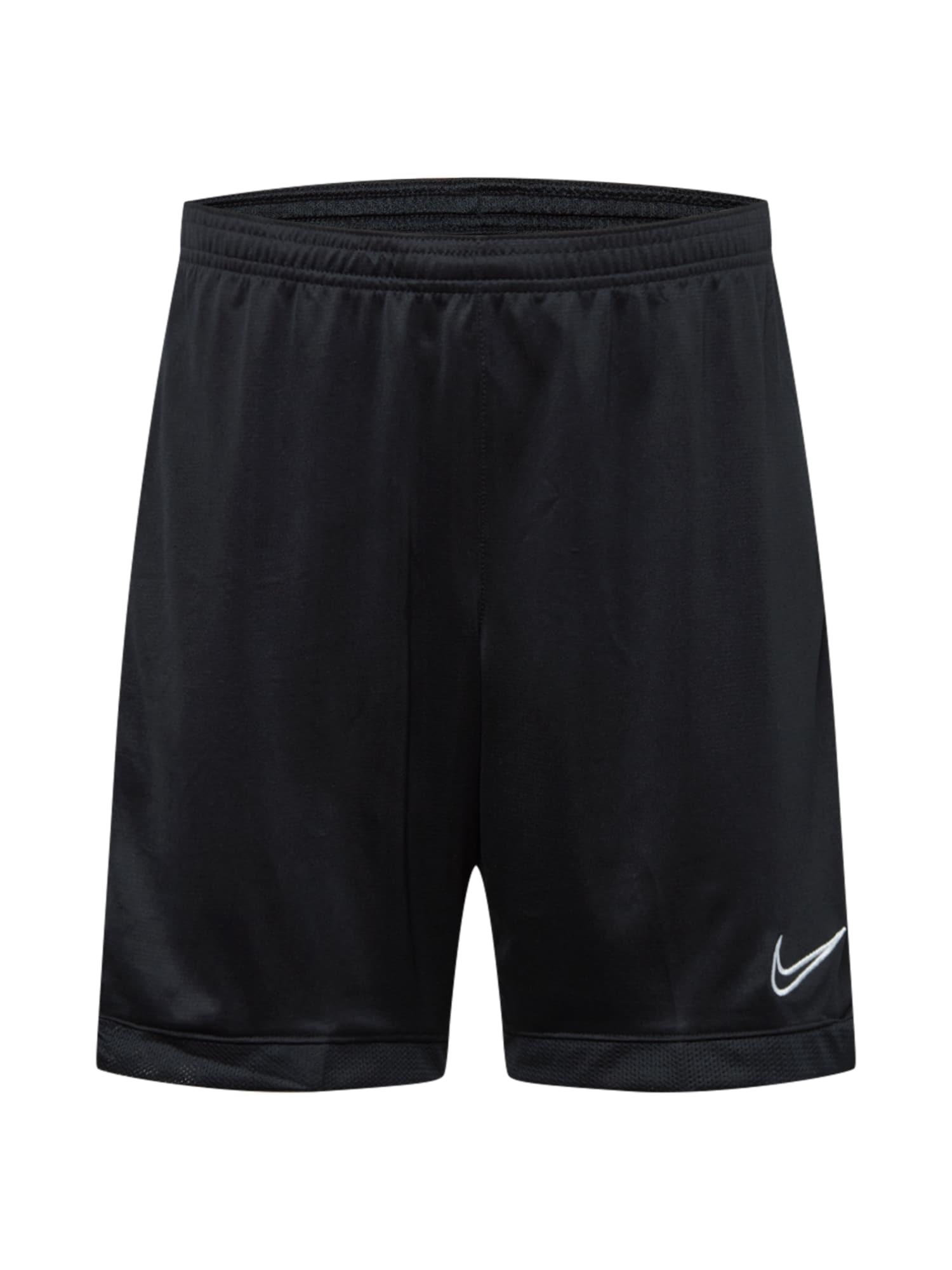 NIKE Sportovní kalhoty  bílá / černá