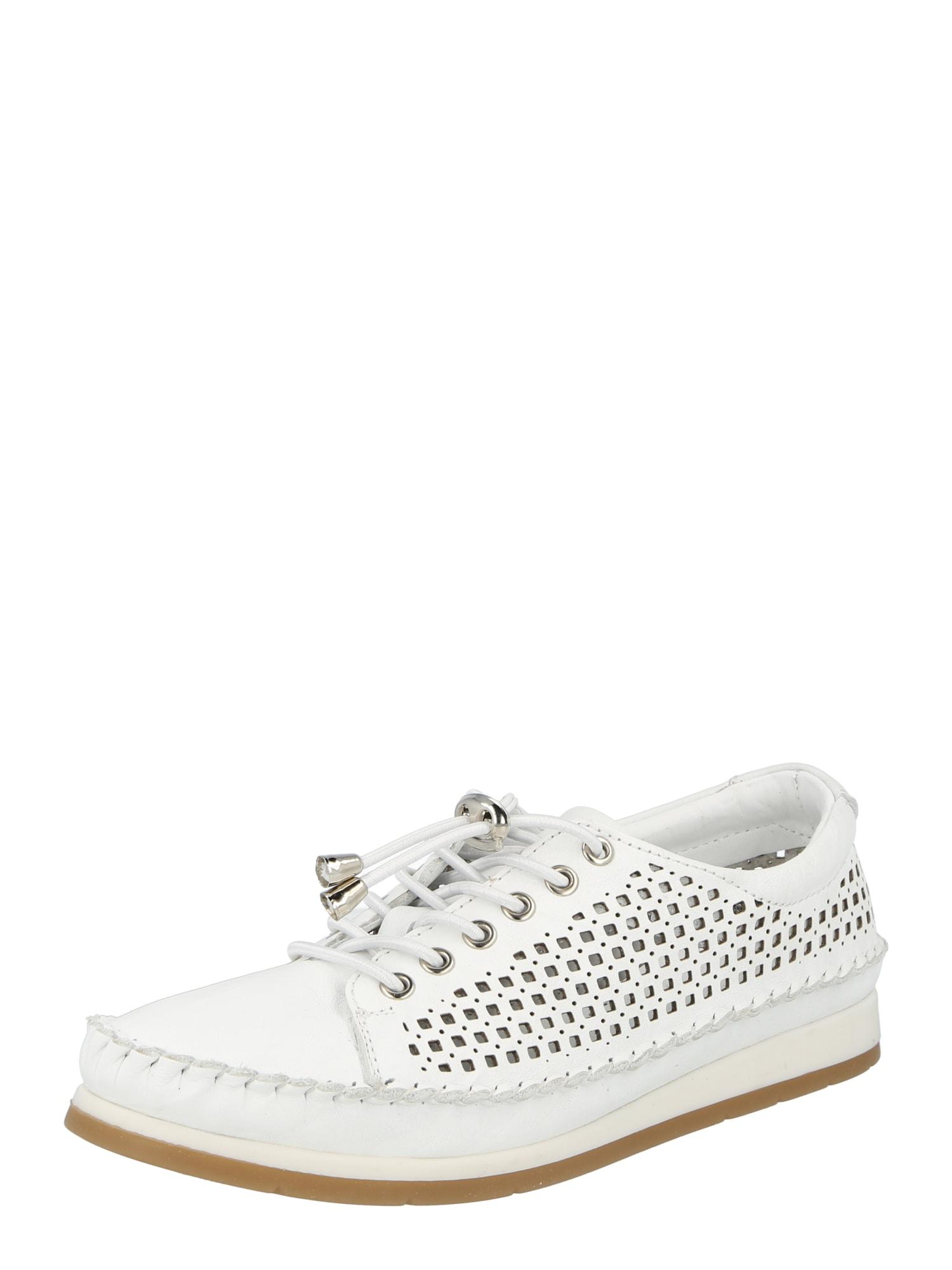 COSMOS COMFORT Sportinio stiliaus batai su raišteliais balta