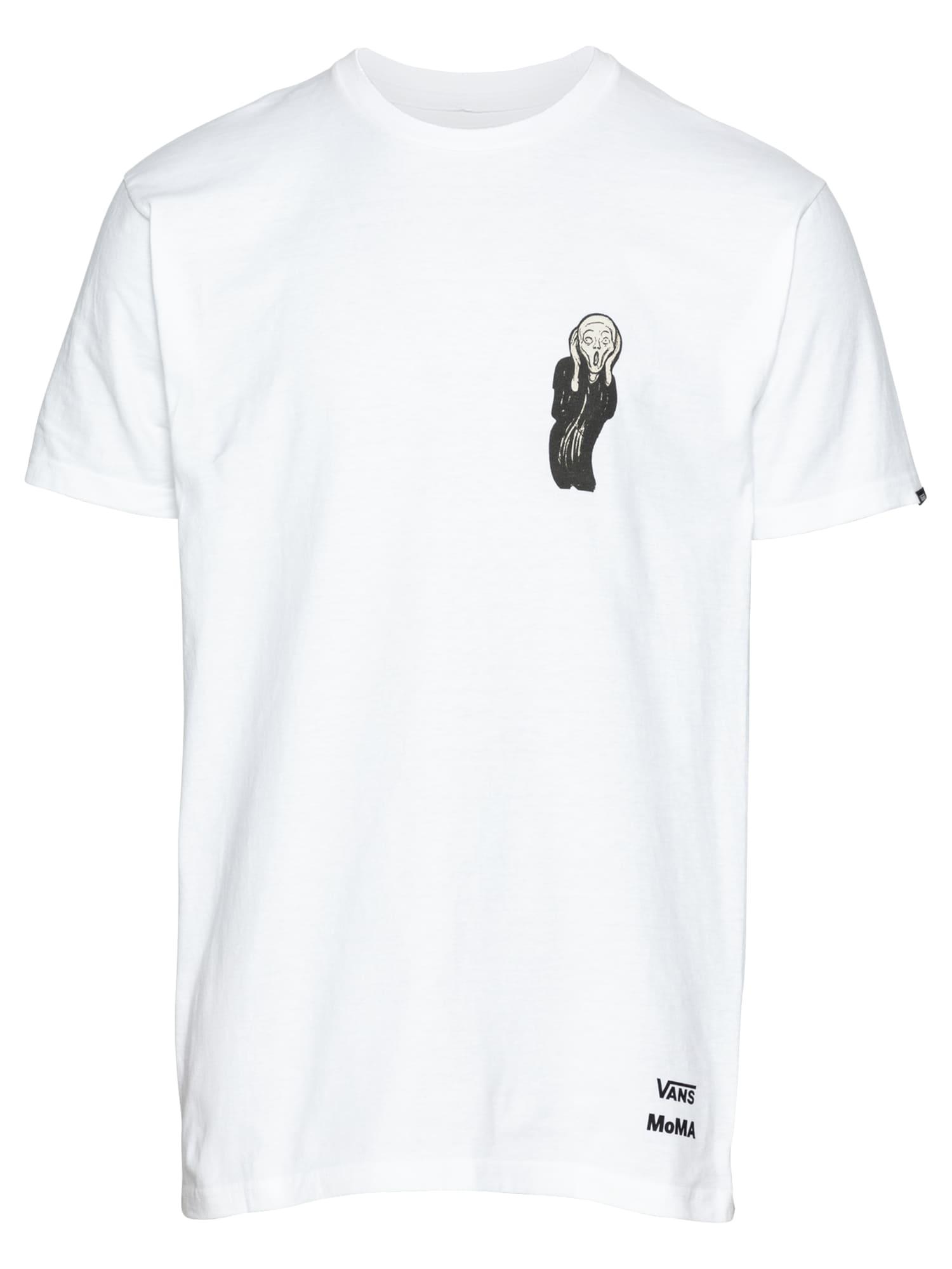 VANS Tričko  bílá / šedá