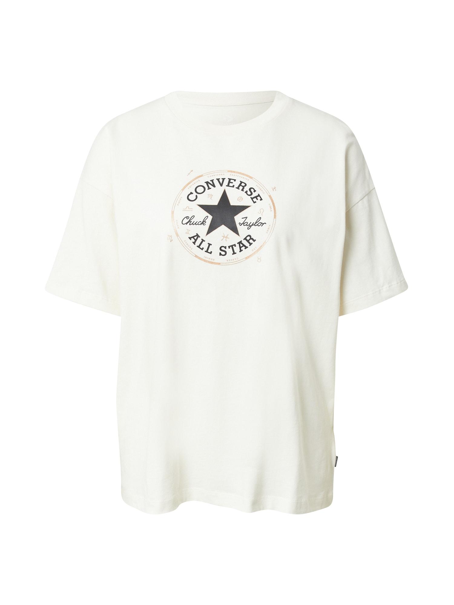 CONVERSE Tričko  biela / námornícka modrá / svetlobéžová