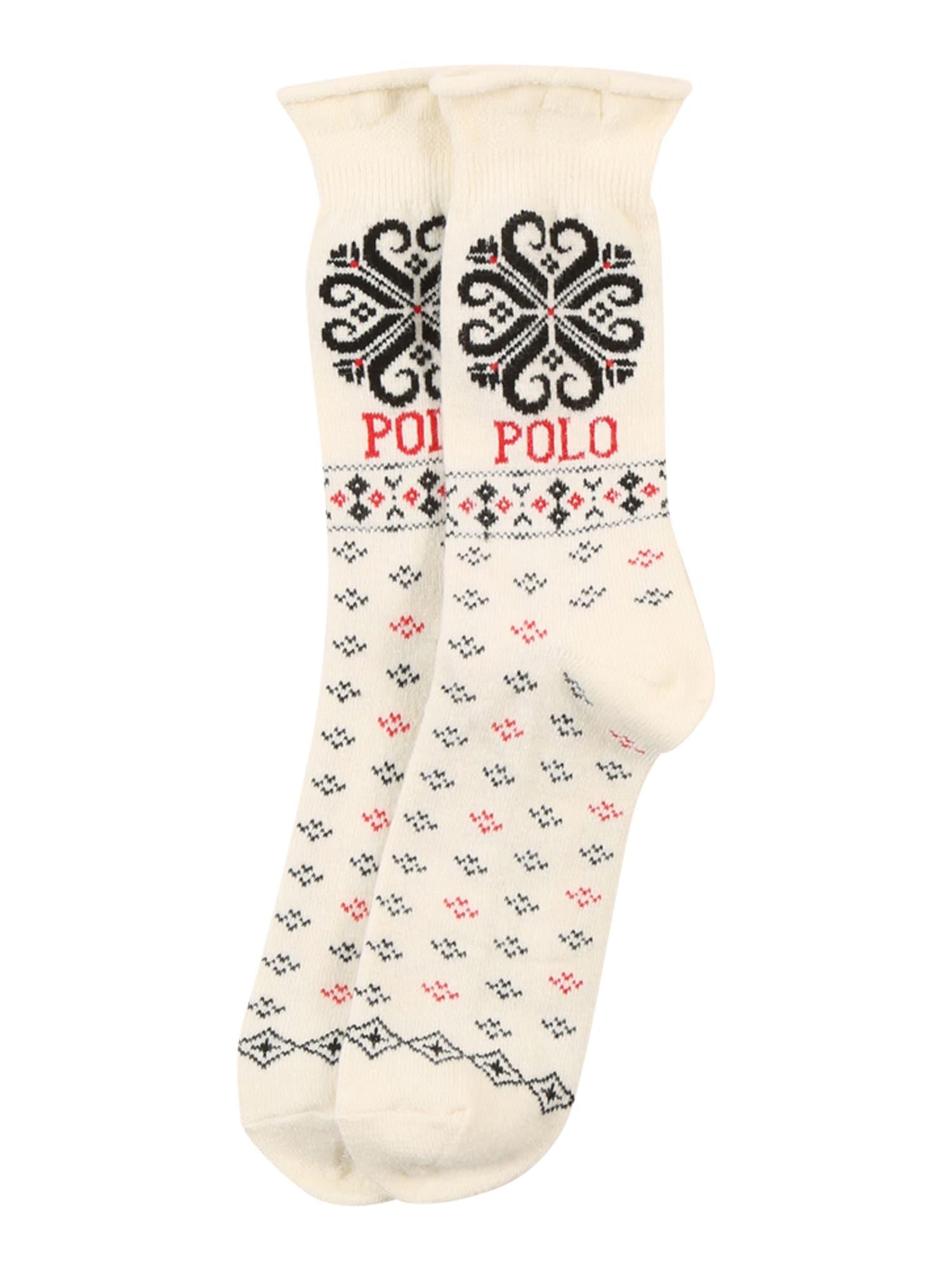 POLO RALPH LAUREN Ponožky 'Holiday Roll'  béžová / červená