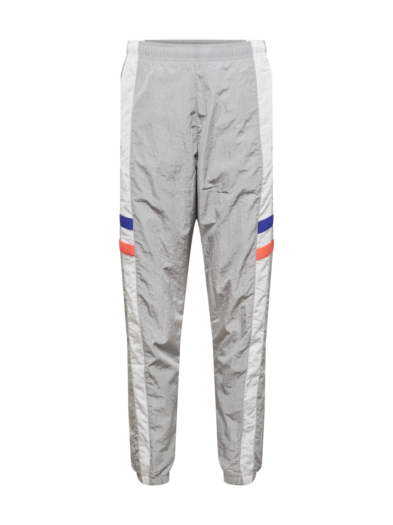 NIKE Sportovní kalhoty  šedá / bílá / modrá / svítivě oranžová