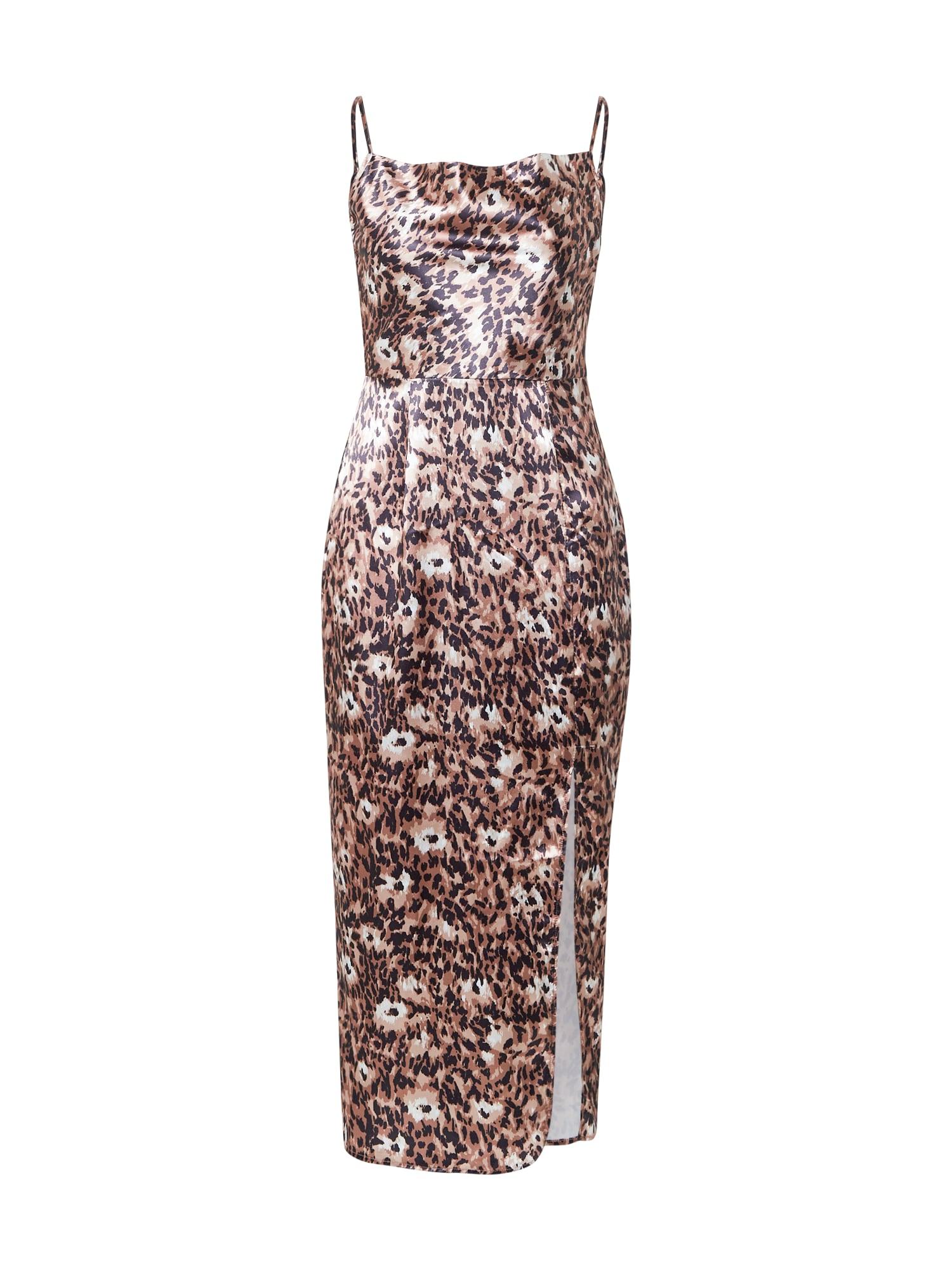 Chi Chi London Suknelė smėlio / balta / tamsi smėlio / juoda
