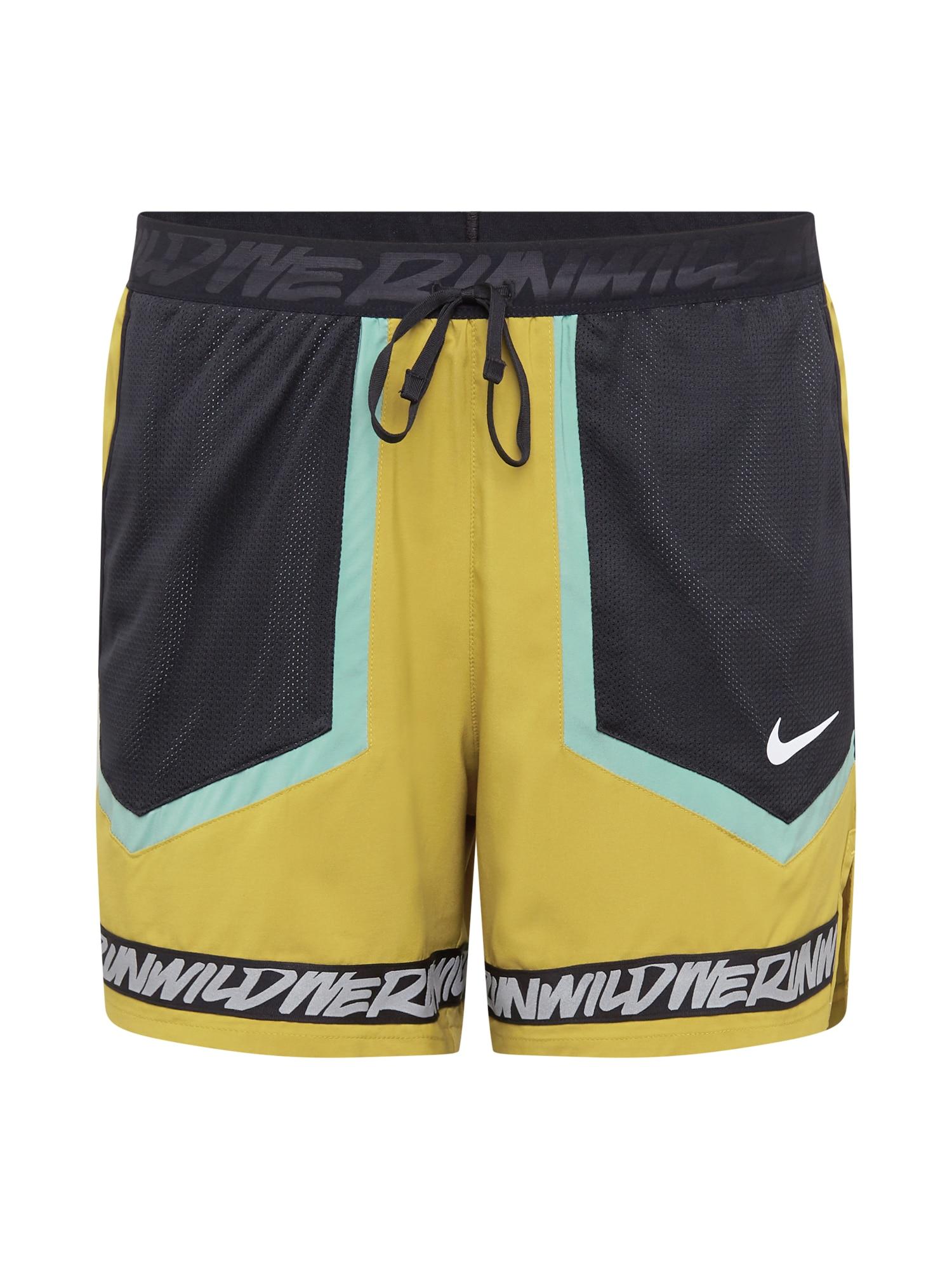 NIKE Sportovní kalhoty 'Flex Stride Wild'  zelená / khaki