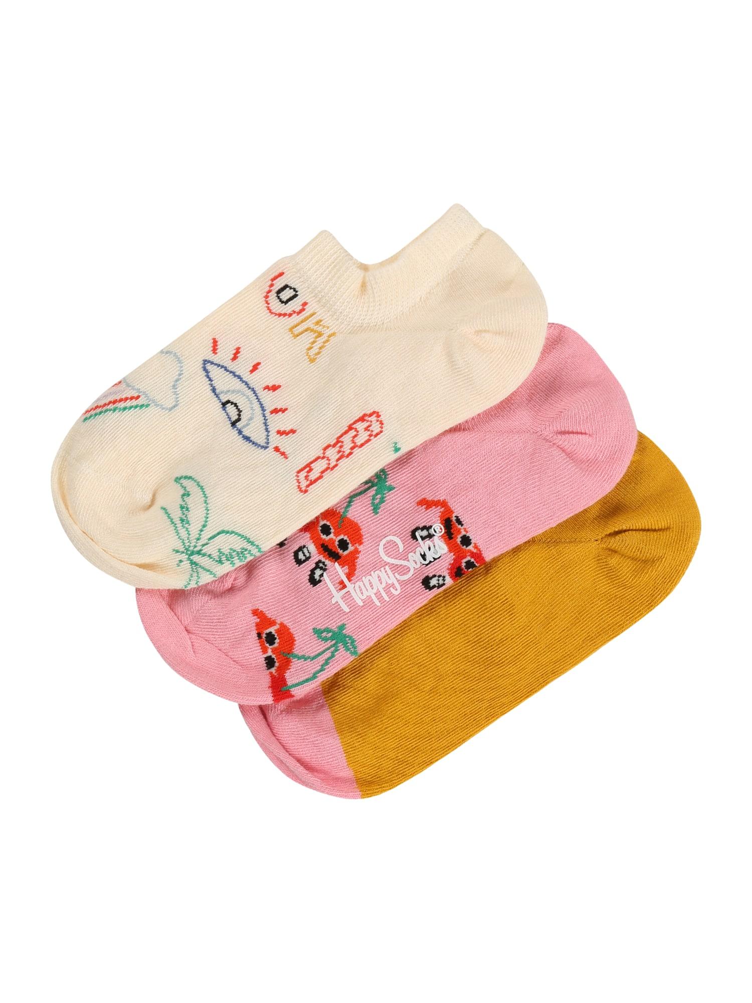 Happy Socks Kojinės mišrios spalvos / rožių spalva / medaus spalva / rožinė