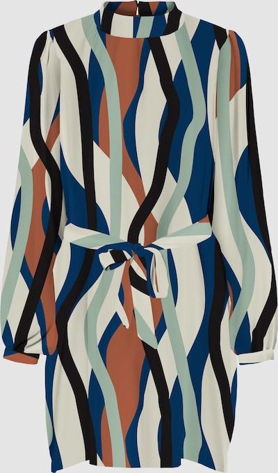 Vero Moda Tall Molly Hochgeschlossenes, kurzes Kleid mit Motiv und Bindung auf der Vorderseite
