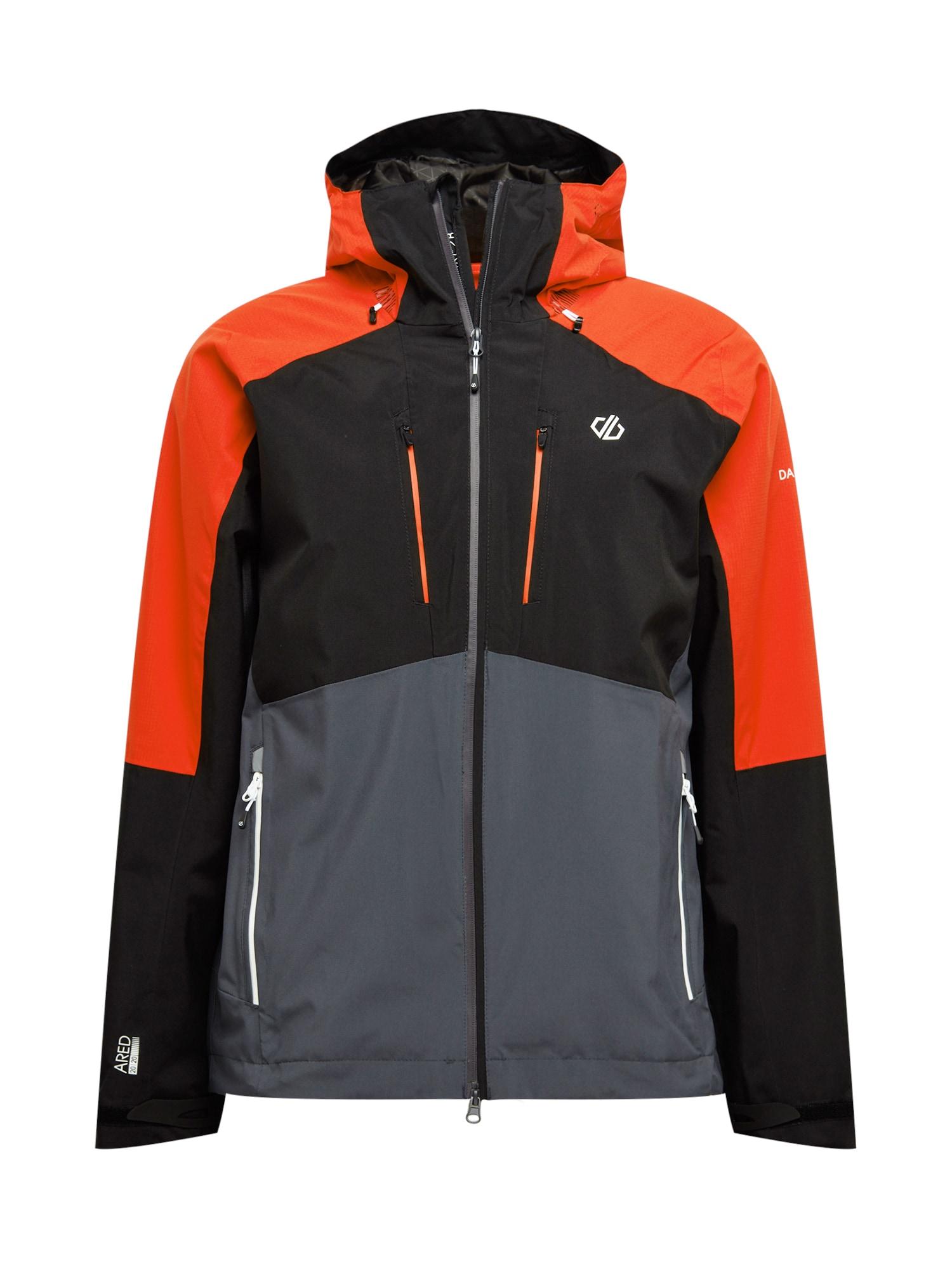 DARE2B Outdoorová bunda 'Soaring'  černá / tmavě šedá / oranžově červená