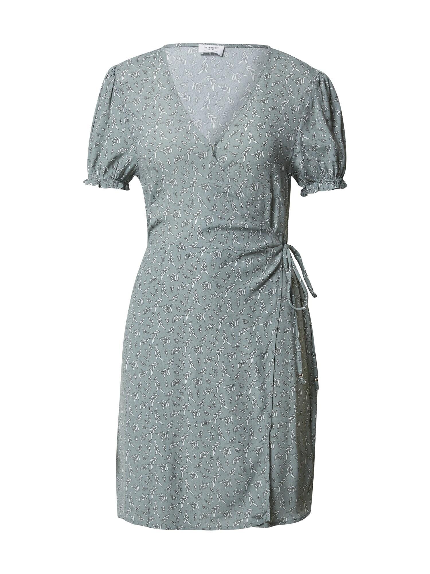 Cotton On Šaty 'Amy'  mátová / bílá