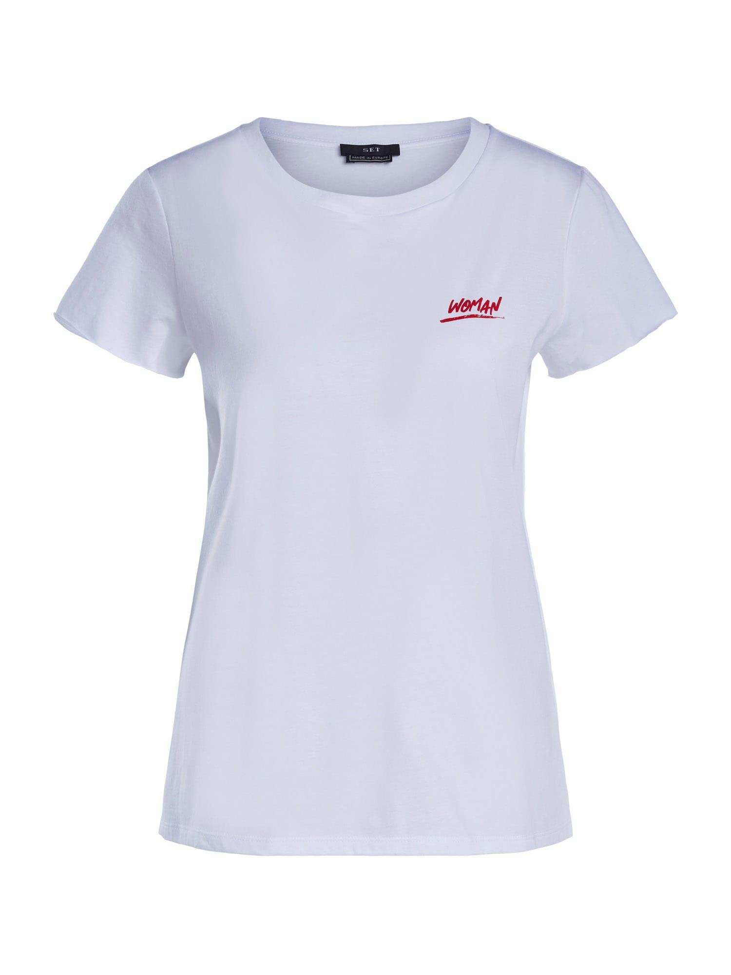 SET Marškinėliai balta / raudona / juoda