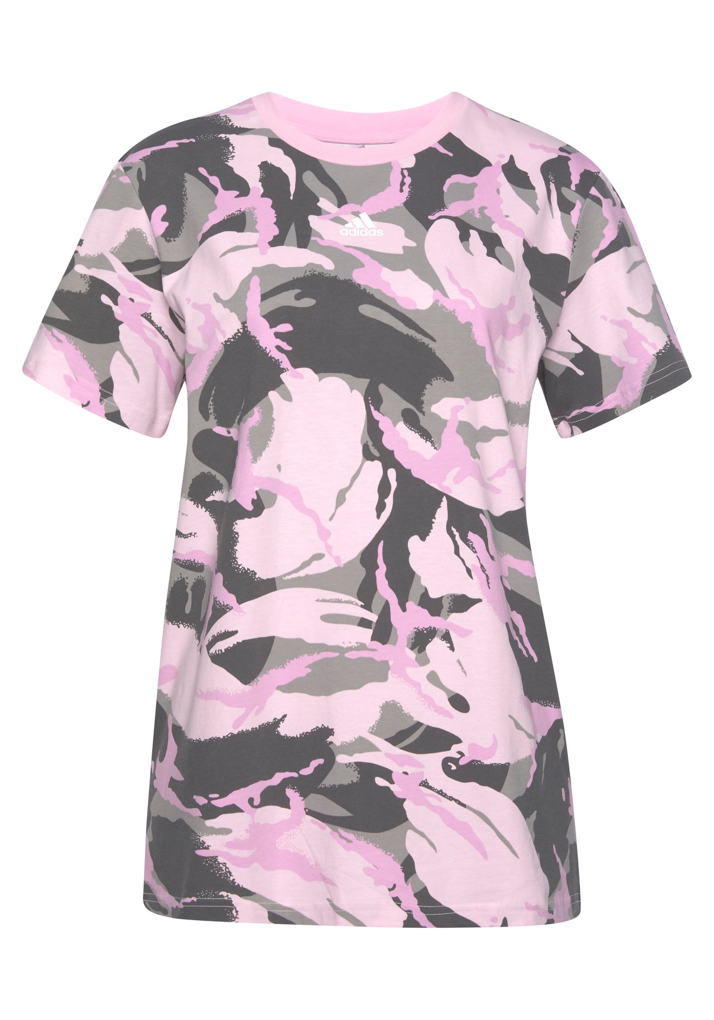 ADIDAS ORIGINALS Marškinėliai šviesiai rožinė / šviesiai pilka