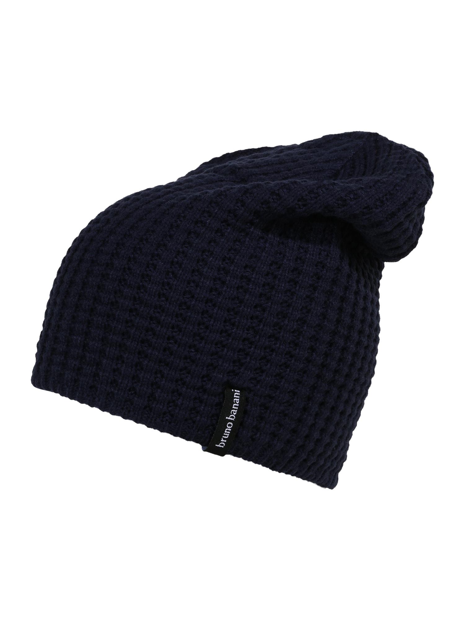 BRUNO BANANI Megzta kepurė tamsiai mėlyna