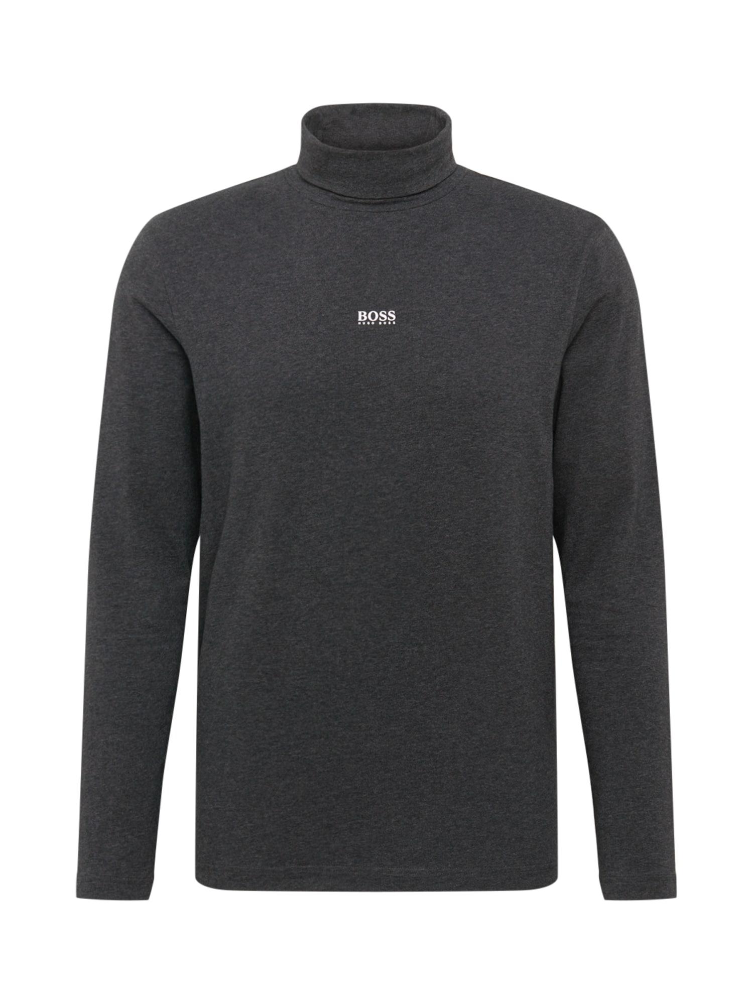 BOSS Marškinėliai tamsiai pilka
