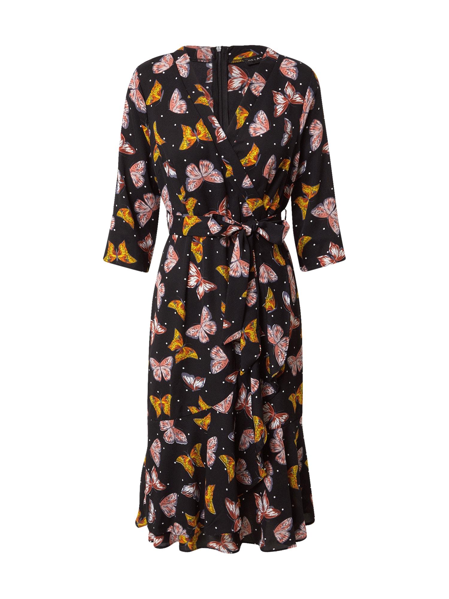 Mela London Suknelė juoda / mišrios spalvos