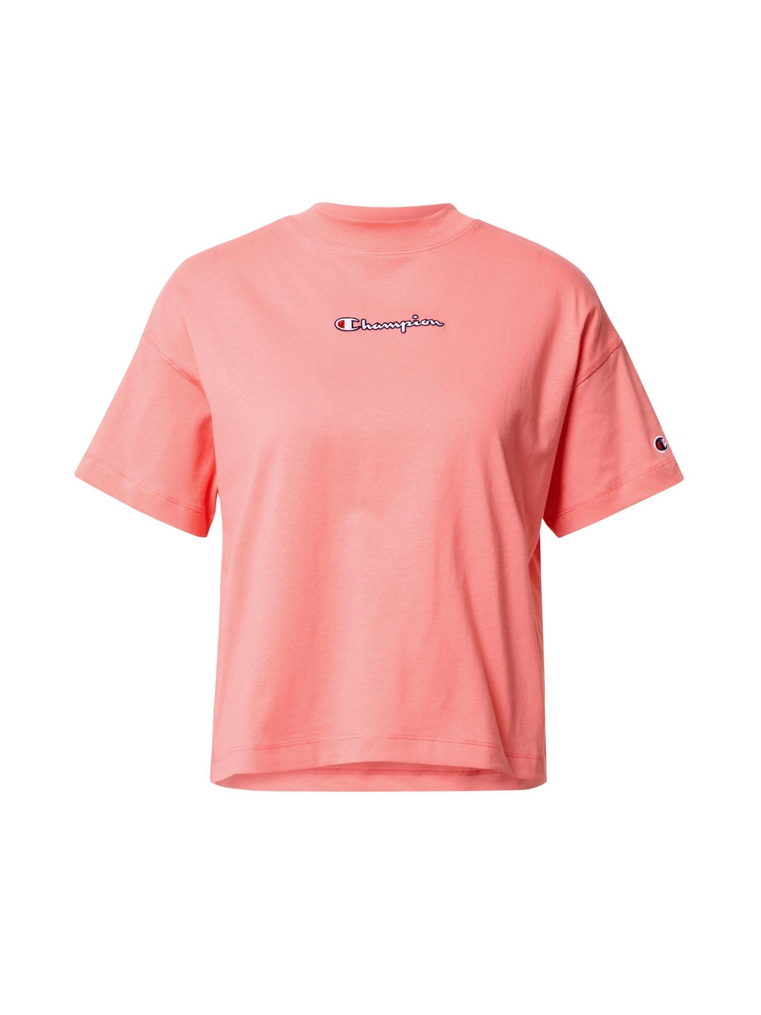 Champion Authentic Athletic Apparel Marškinėliai rožių spalva / balta / raudona