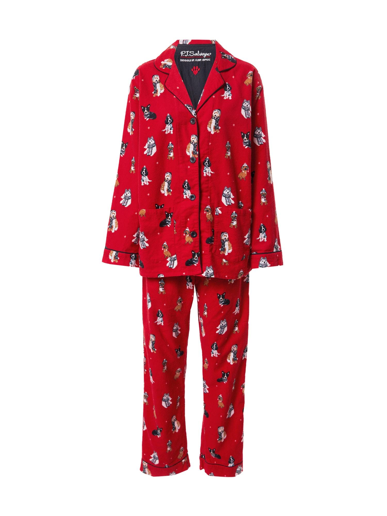 PJ Salvage Pižama raudona / mišrios spalvos