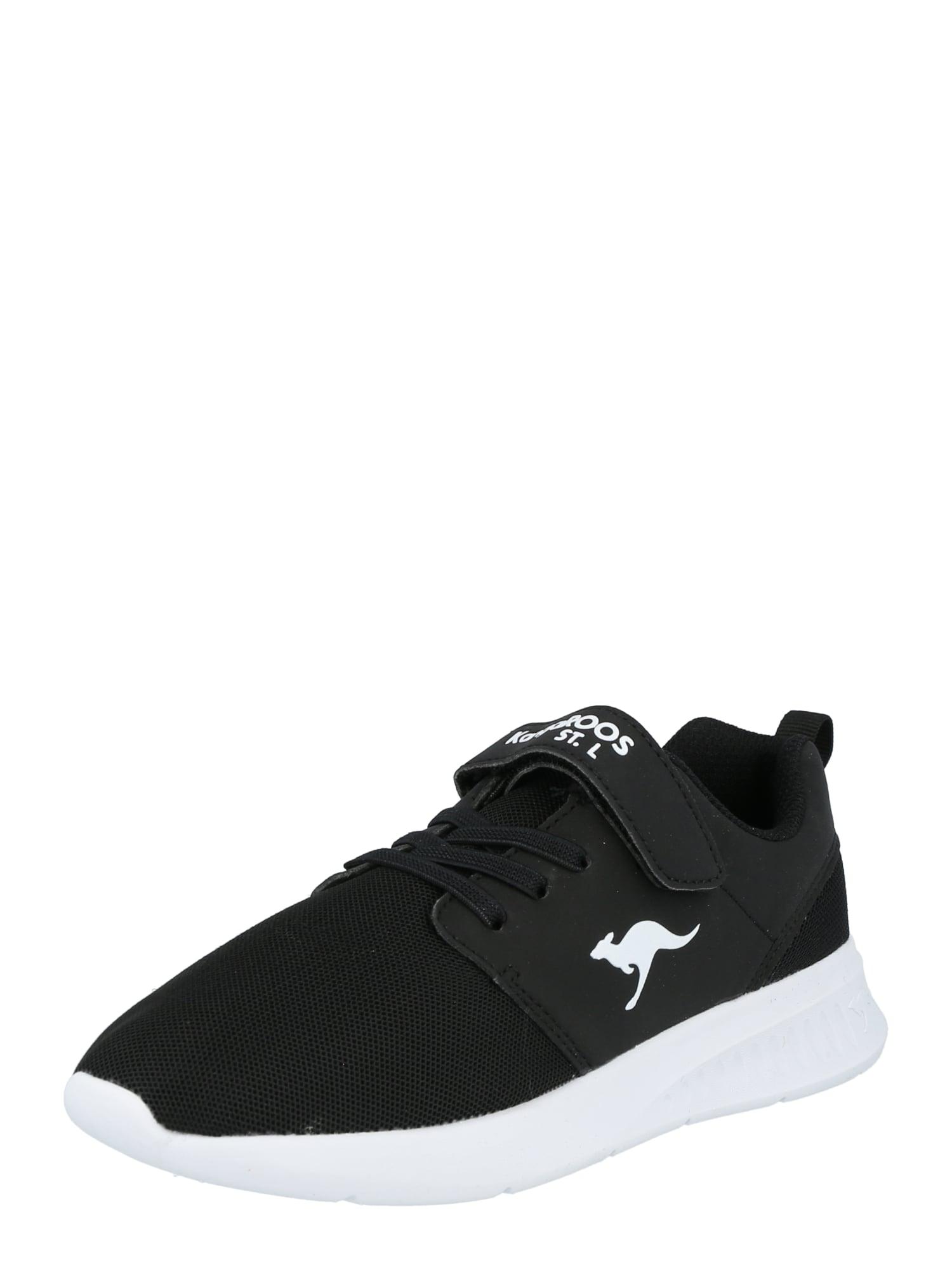 KangaROOS Sportiniai batai juoda / balta