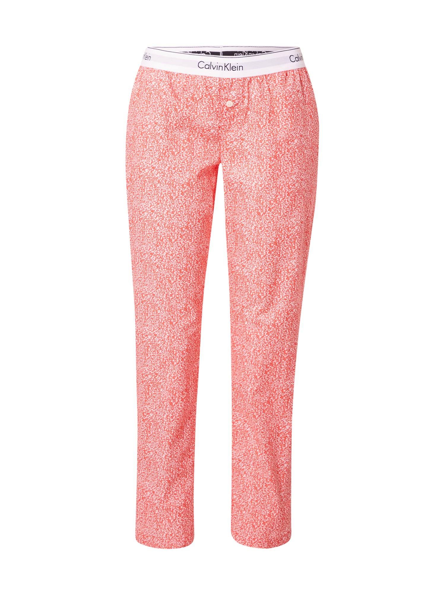 Calvin Klein Underwear Pyžamové nohavice  koralová / biela / čierna / pastelovo fialová