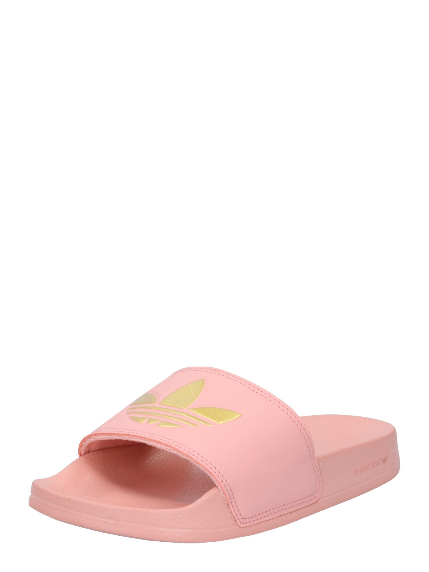 ADIDAS ORIGINALS Pantofle  starorůžová / zlatá