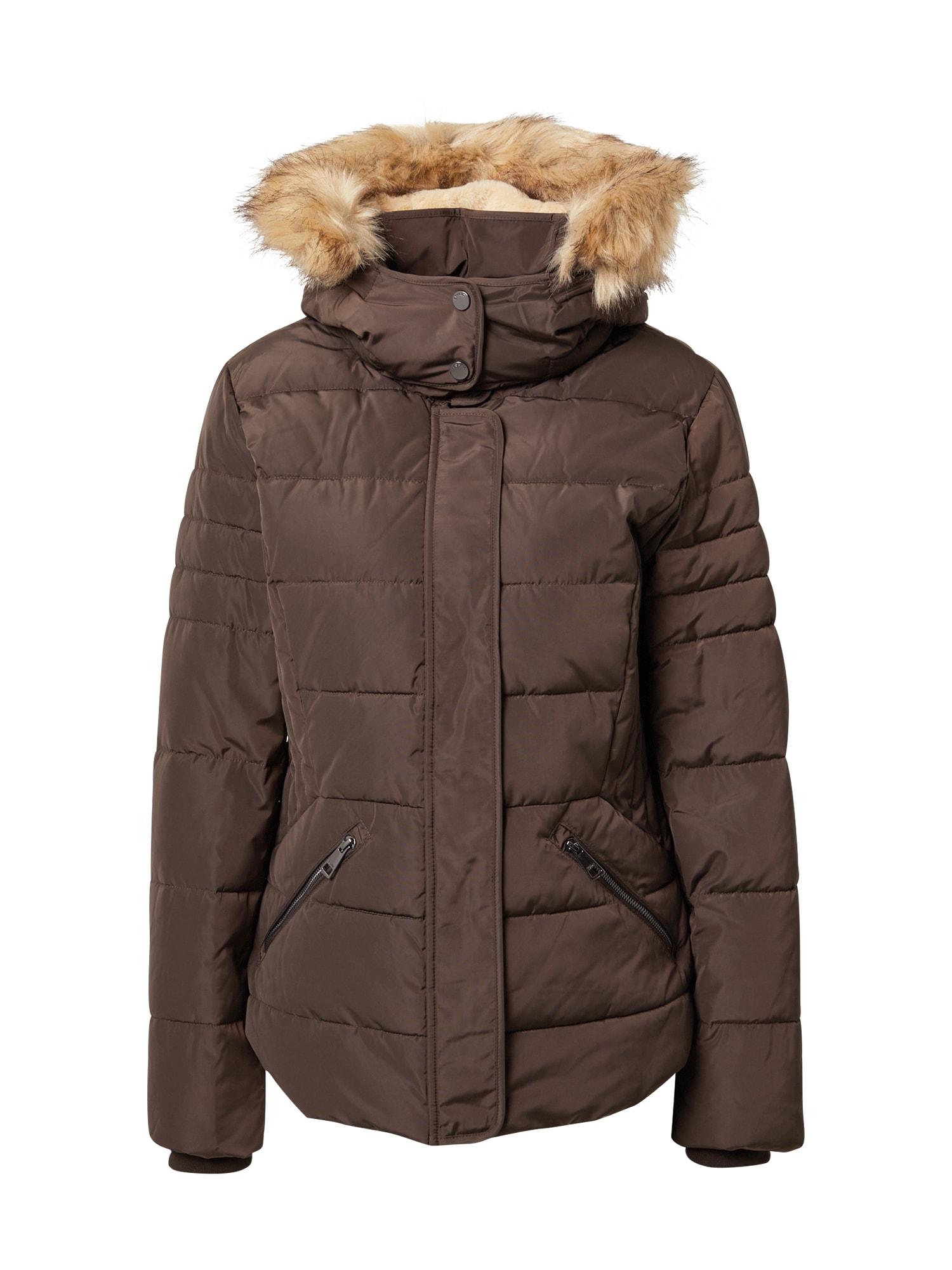ESPRIT Zimní bunda  tmavě hnědá