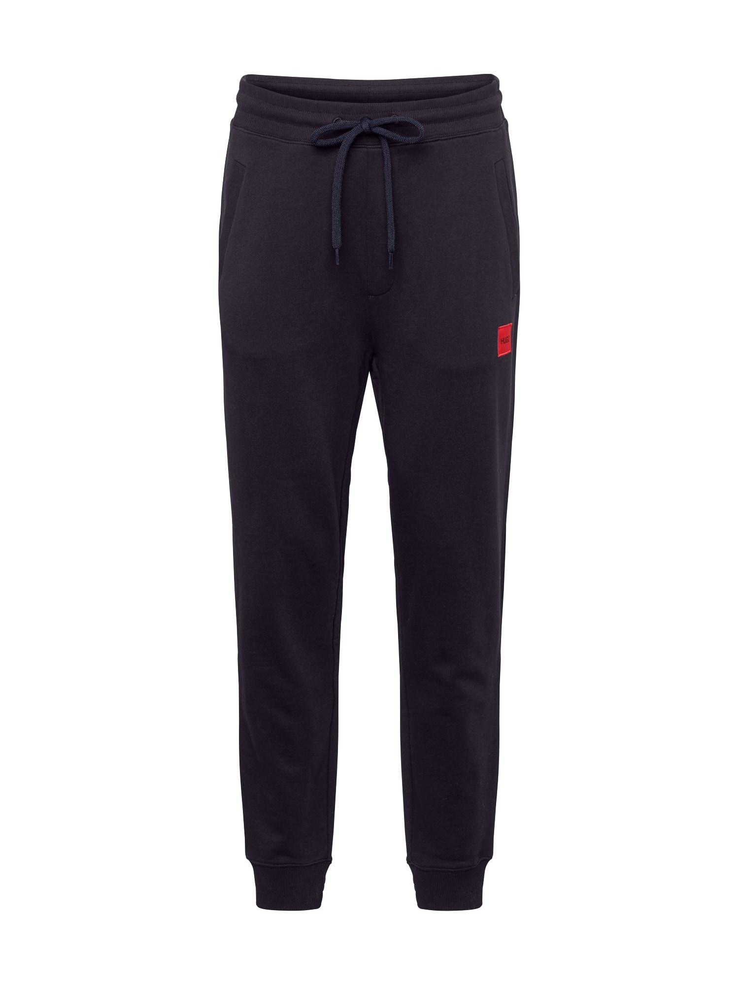 HUGO Kalhoty 'Doak'  černá / červená