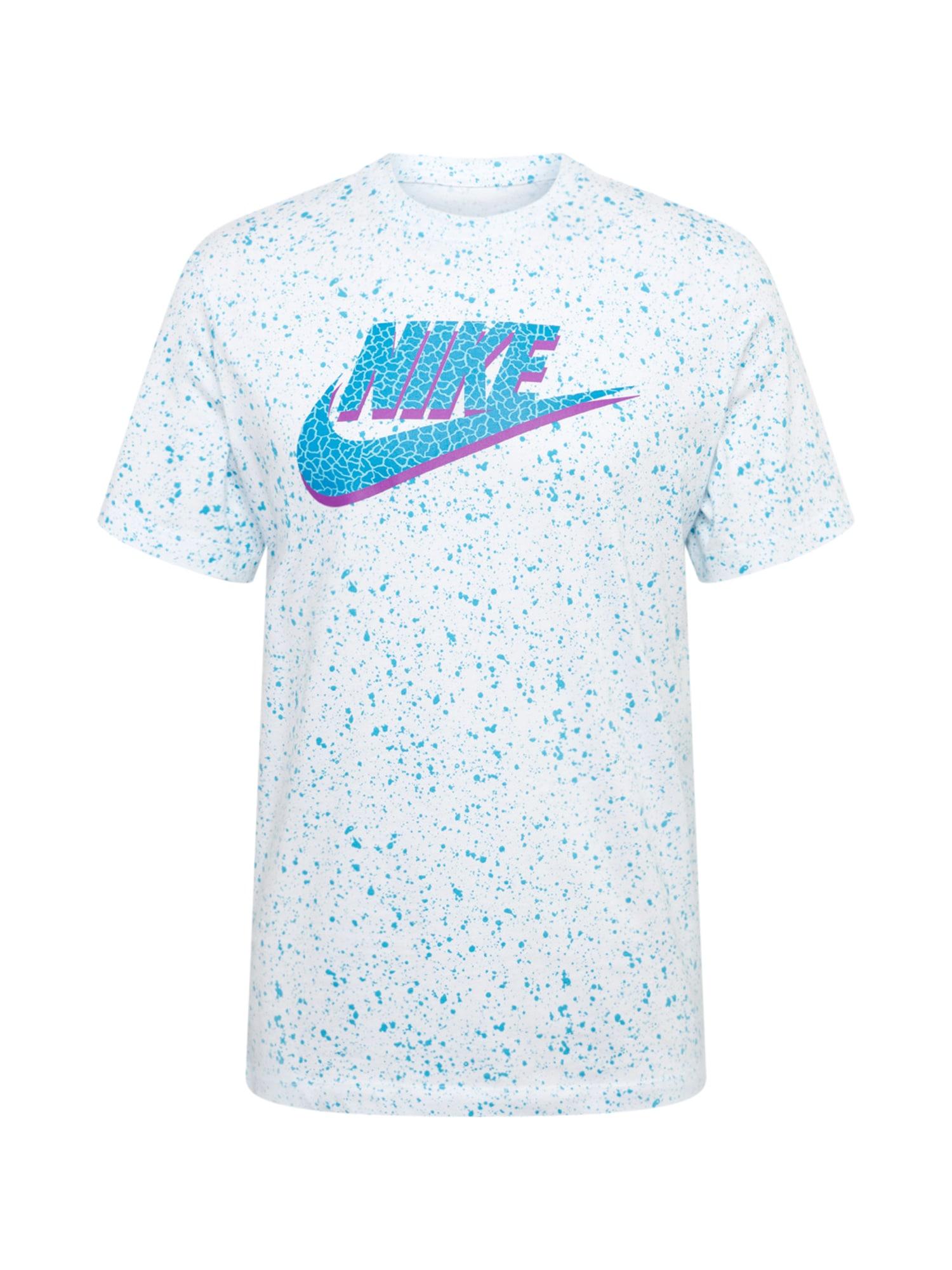 Nike Sportswear Tričko  bílá / fialová / opálová / nebeská modř