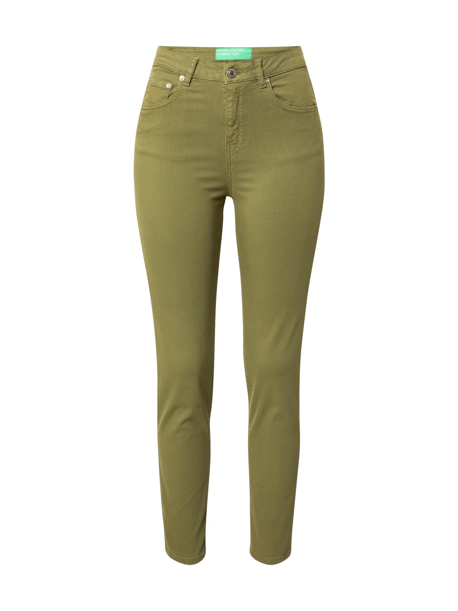 UNITED COLORS OF BENETTON Kalhoty  tmavě zelená