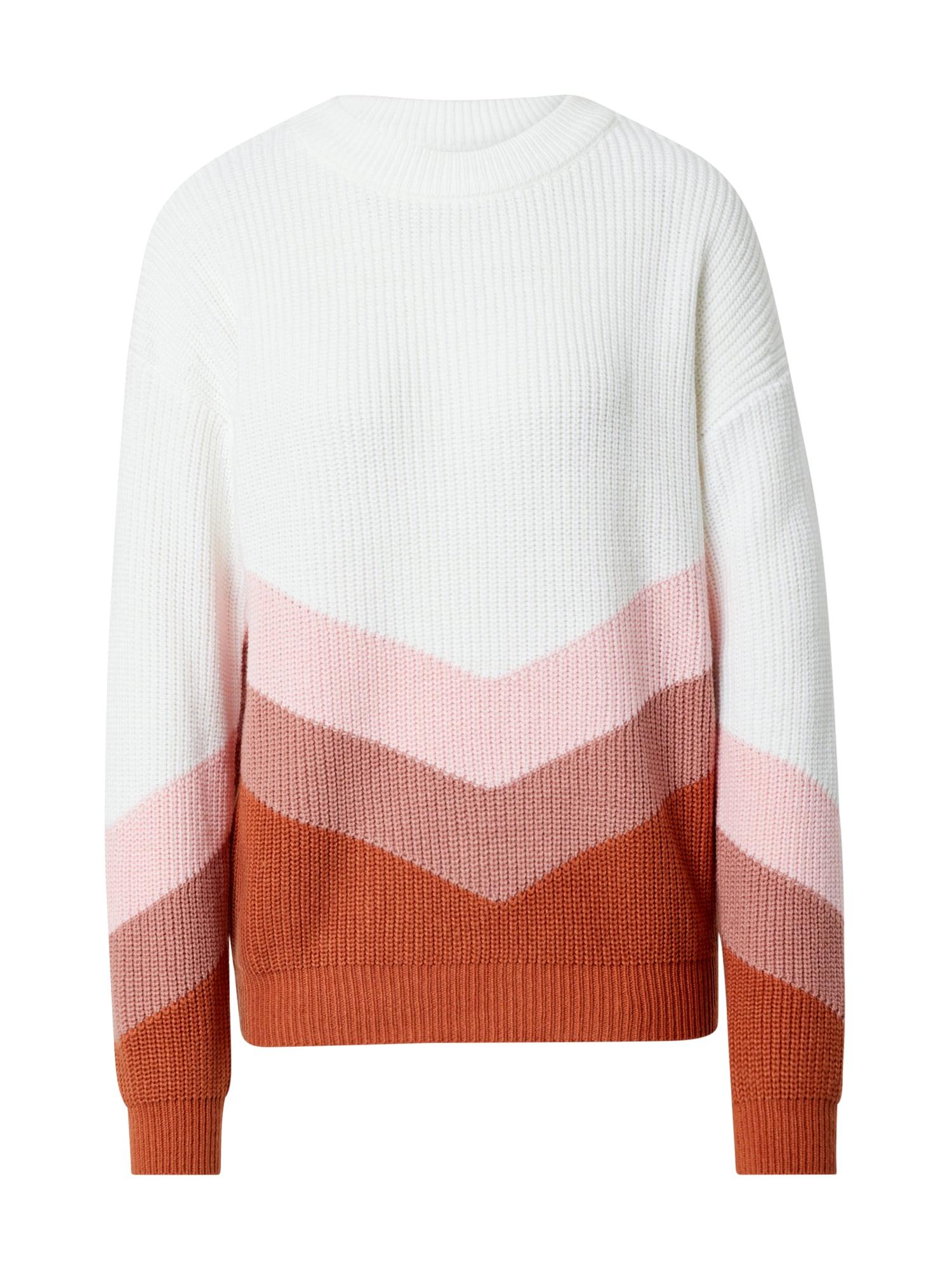 ROXY Megztinis rožinė / balta / tamsiai rožinė