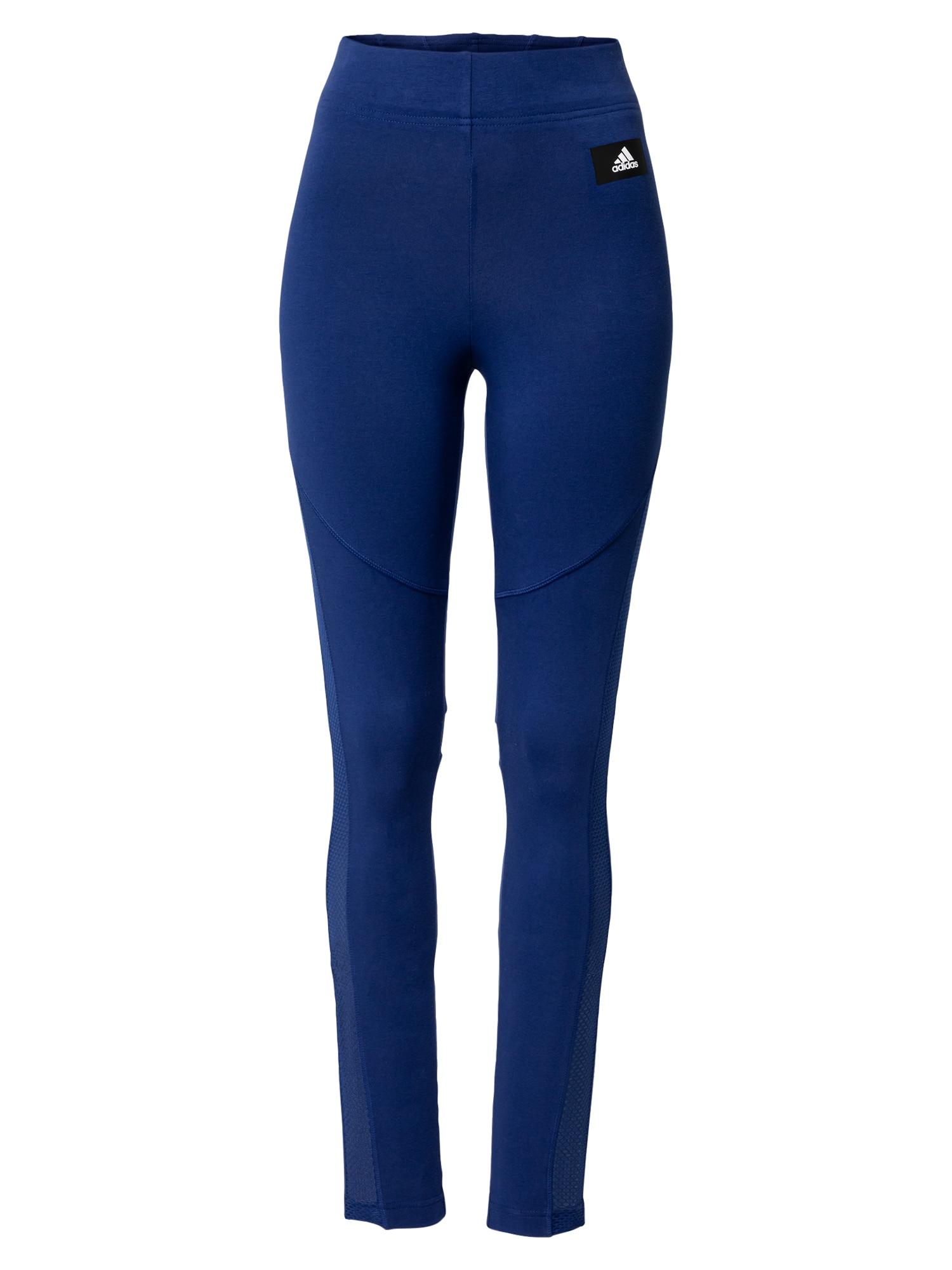 ADIDAS PERFORMANCE Sportovní kalhoty  modrá / černá / bílá