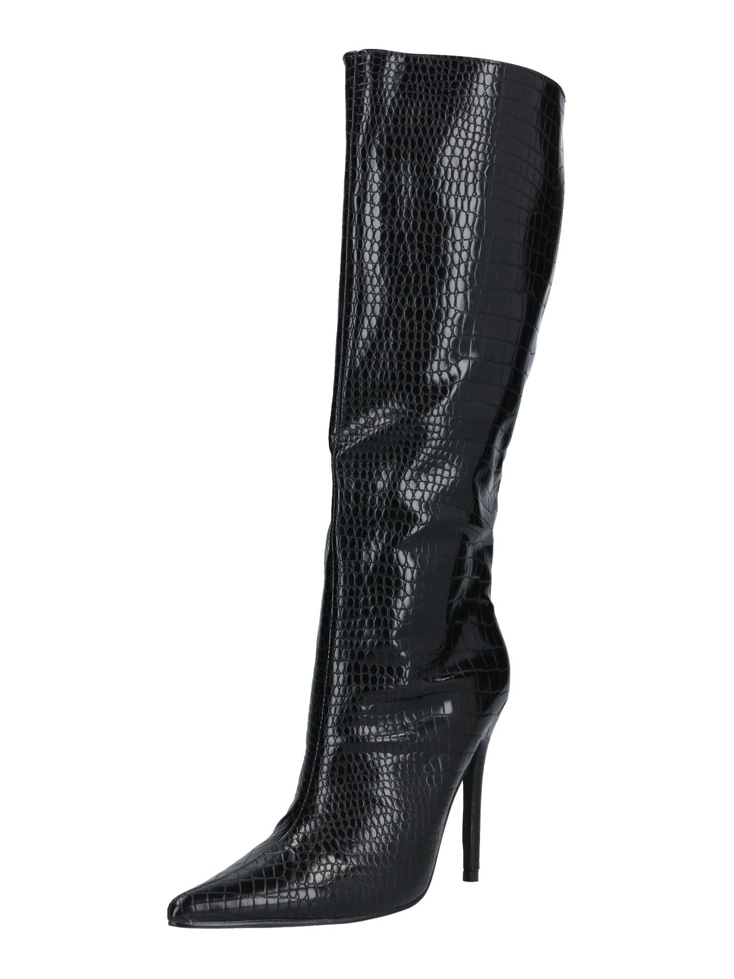 Public Desire Ilgaauliai batai virš kelių 'Define' juoda