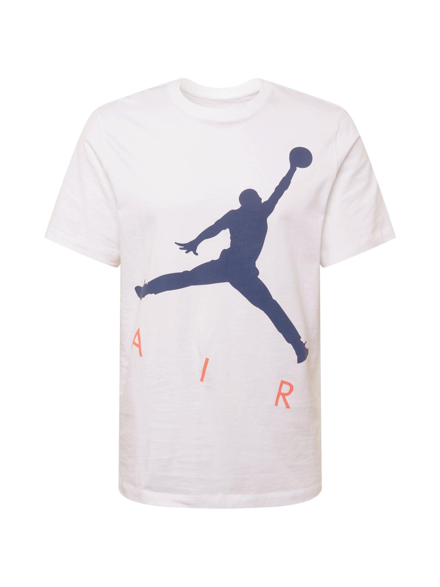 Jordan Marškinėliai balta / melionų spalva / tamsiai mėlyna