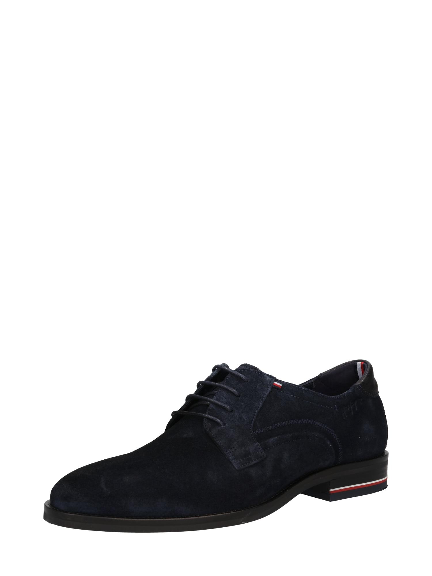 TOMMY HILFIGER Šněrovací boty  námořnická modř