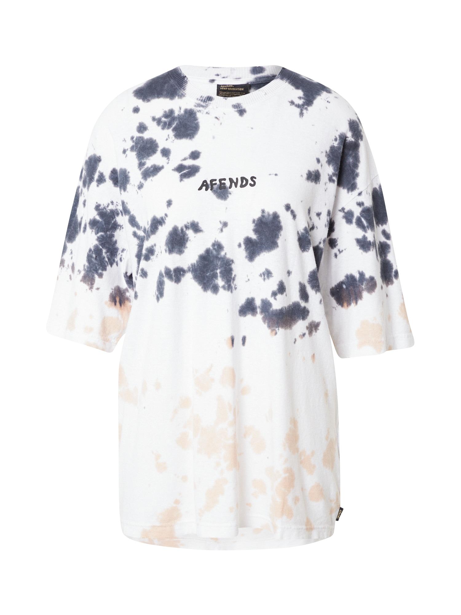 Afends Marškinėliai balta / melsvai pilka / abrikosų spalva / juoda