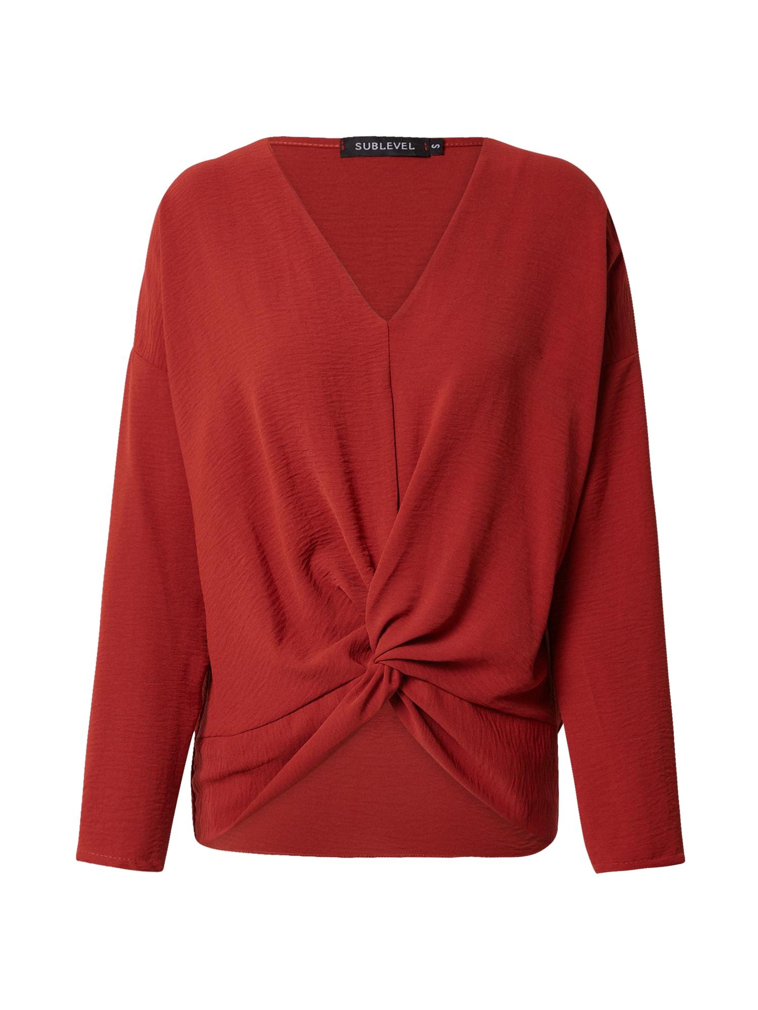 Sublevel Megztinis rūdžių raudona