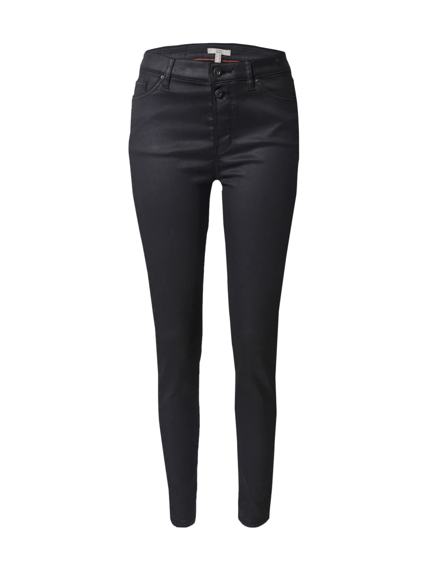 EDC BY ESPRIT Kelnės juodo džinso spalva