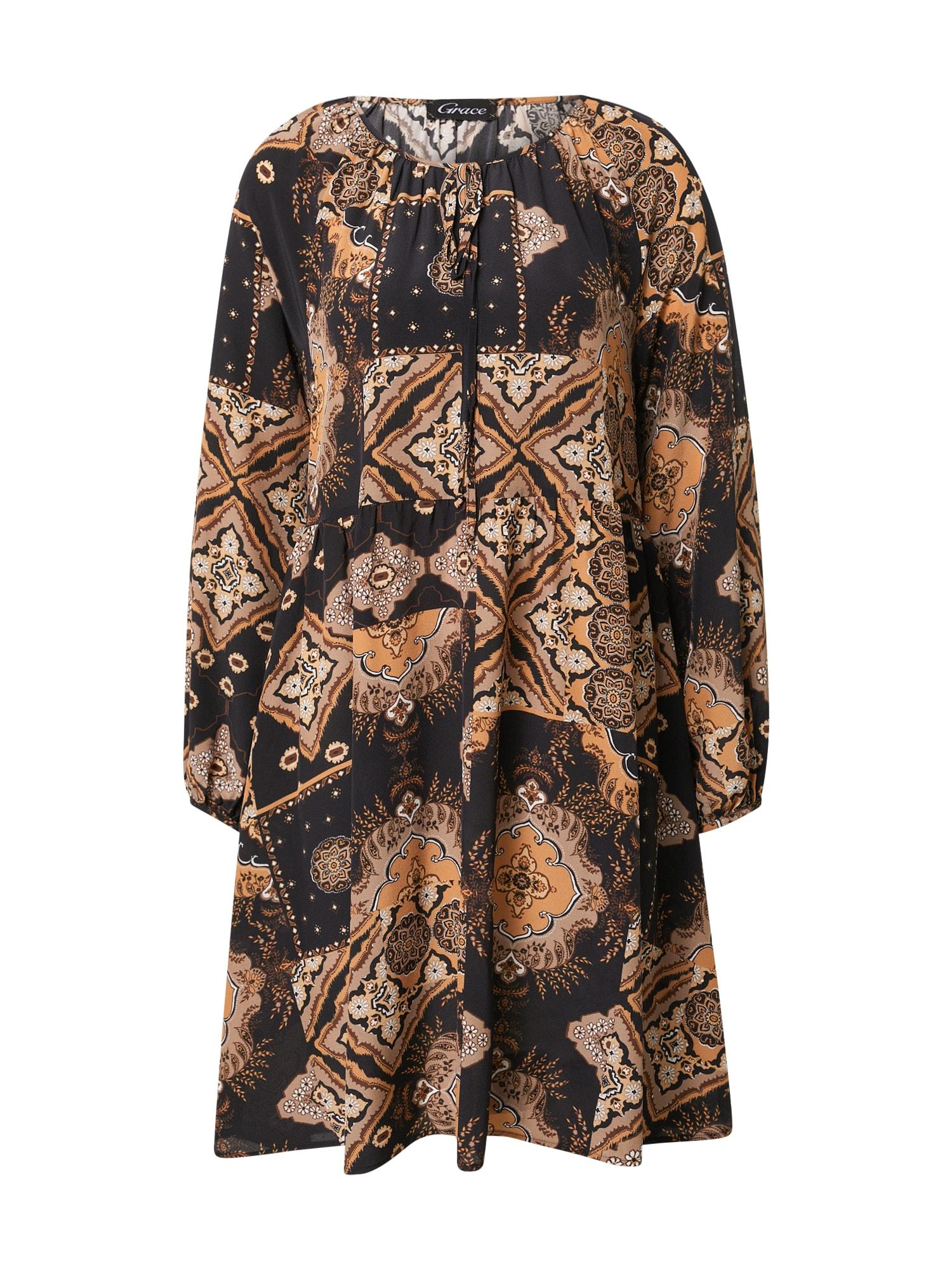 Grace Palaidinės tipo suknelė juoda / rausvai pilka / kupranugario