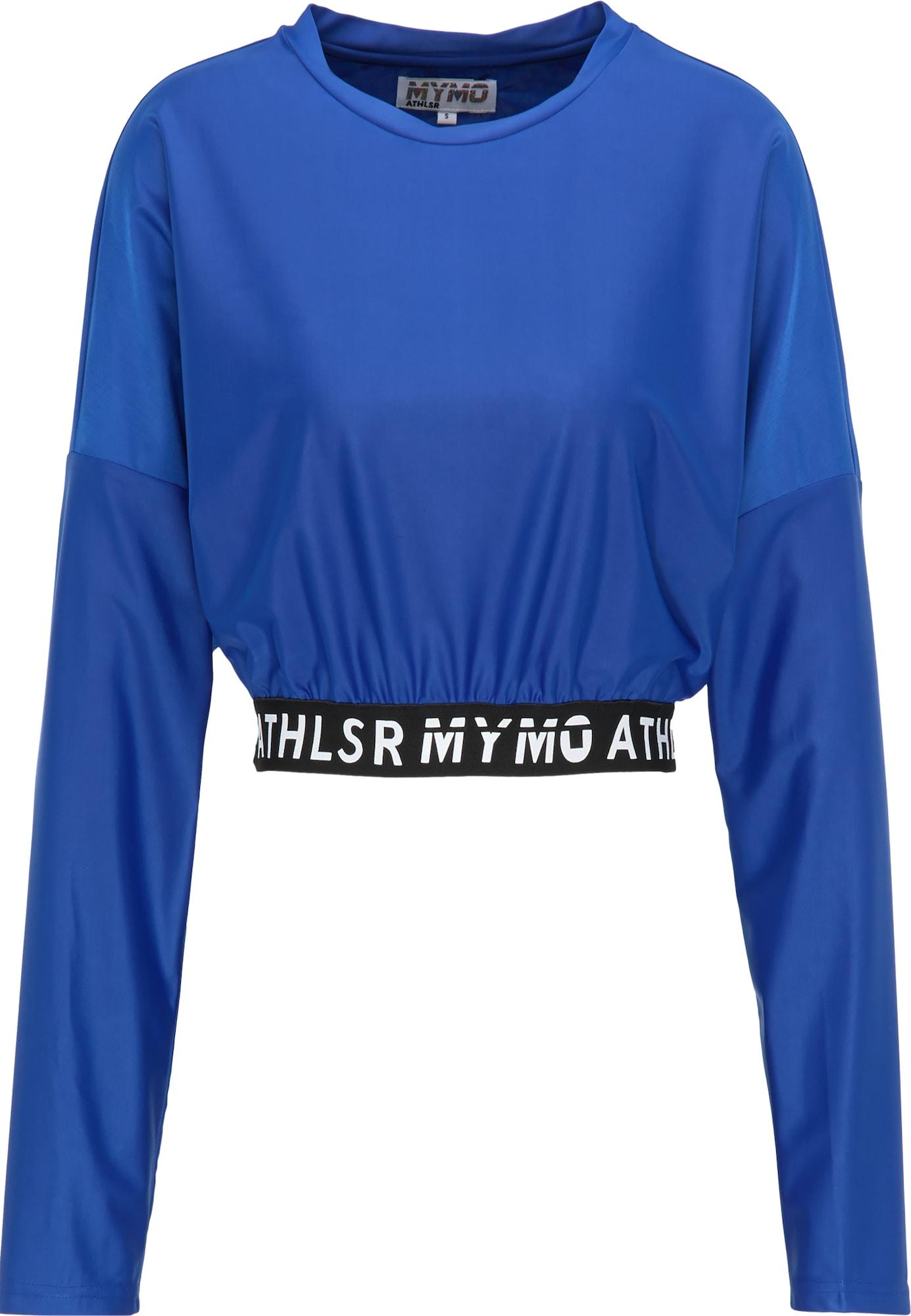 myMo ATHLSR Sportiniai marškinėliai juoda / mėlyna / balta