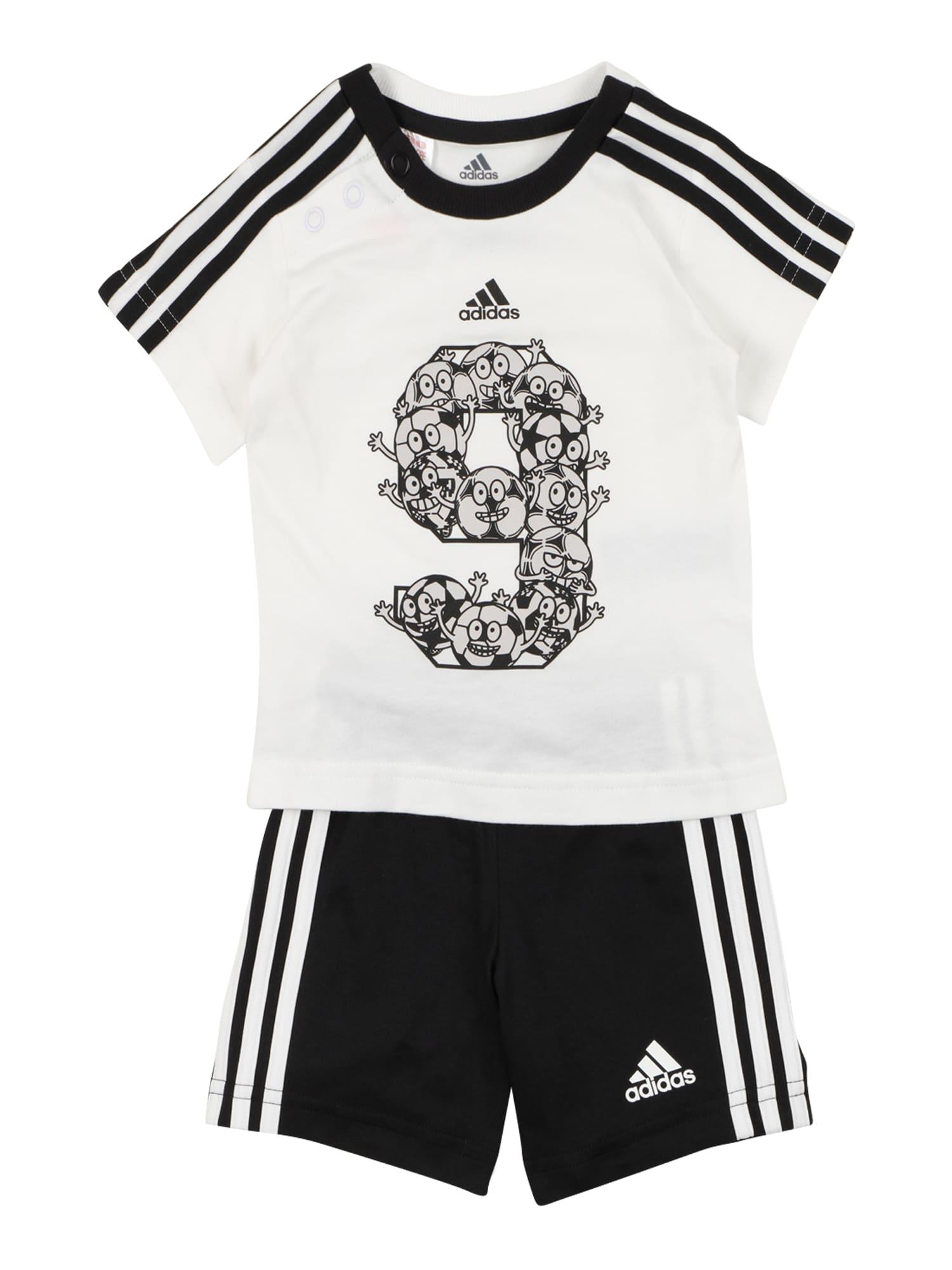 ADIDAS PERFORMANCE Sportinis kostiumas balta / juoda