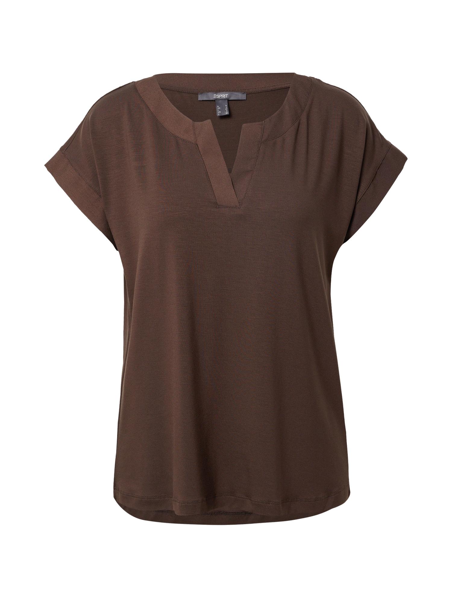 Esprit Collection Marškinėliai tamsiai ruda