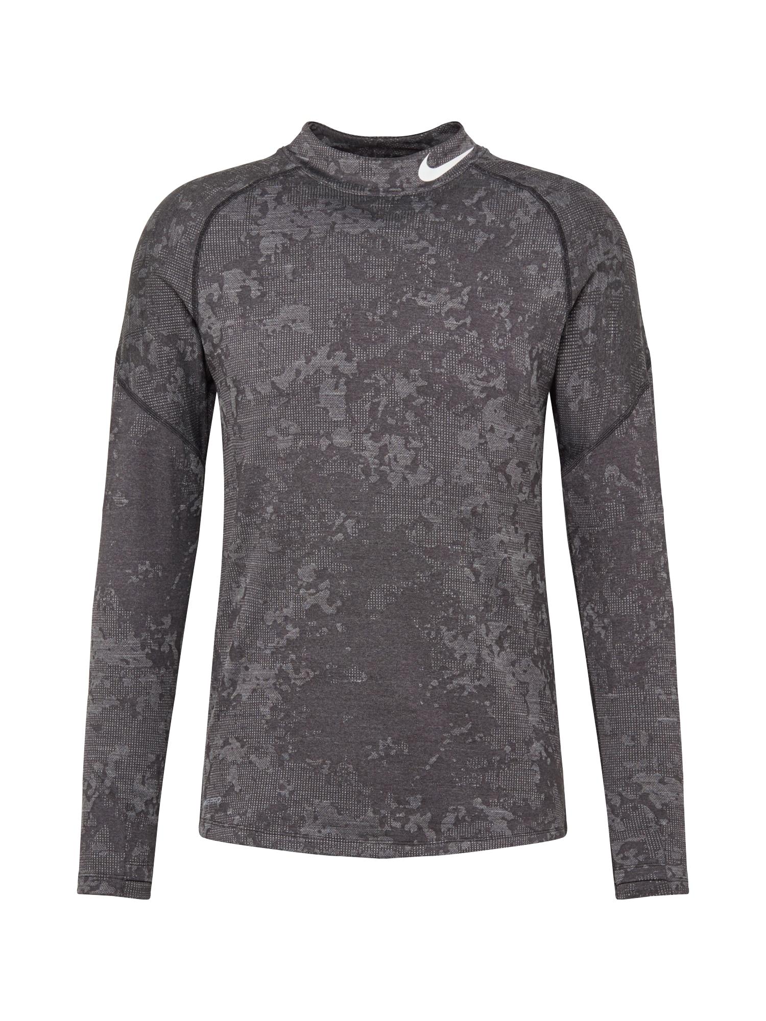 NIKE Funkční tričko 'Utility'  světle šedá / tmavě šedá
