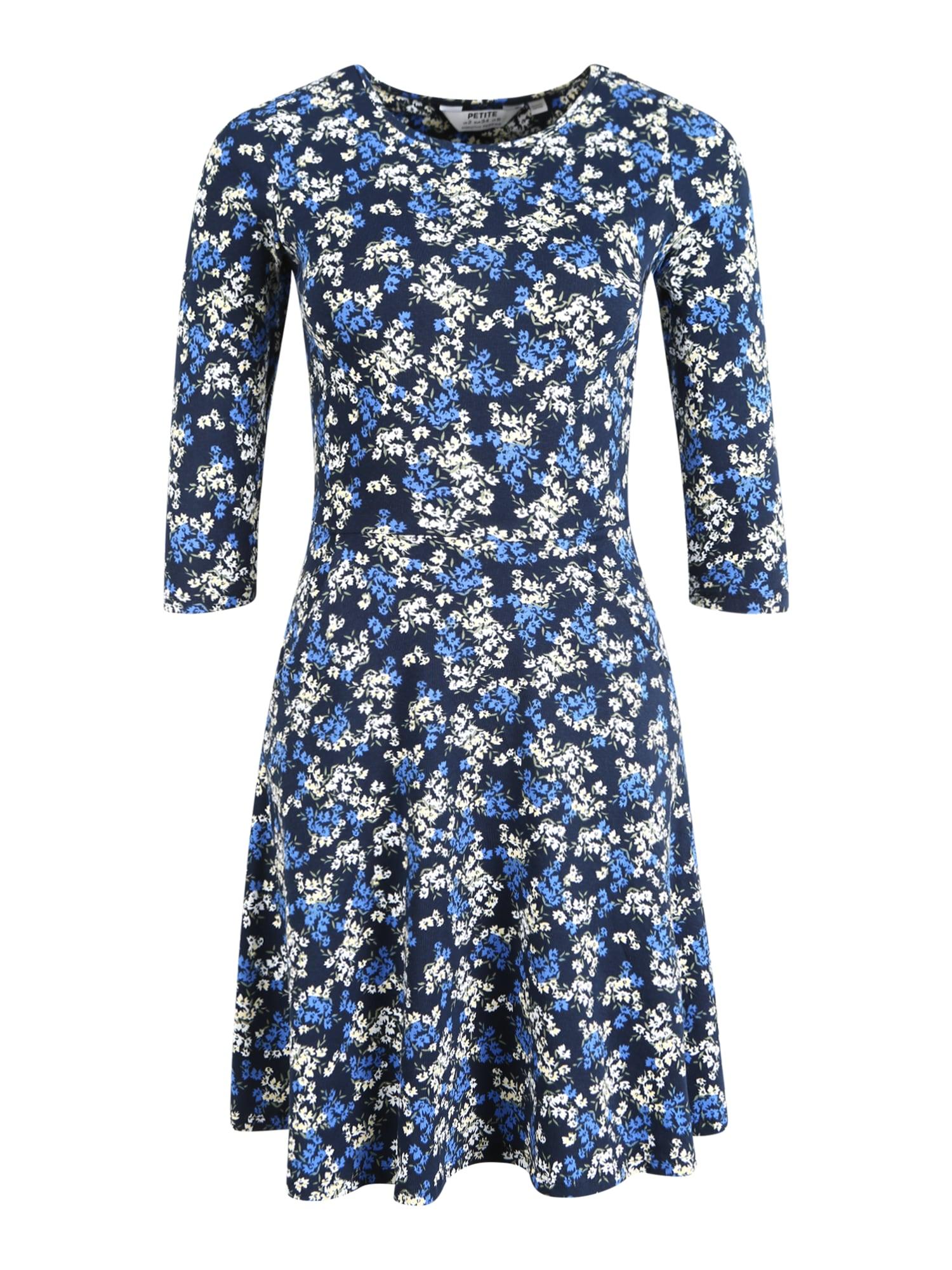 Dorothy Perkins (Petite) Suknelė tamsiai mėlyna / mėlyna dūmų spalva / smėlio
