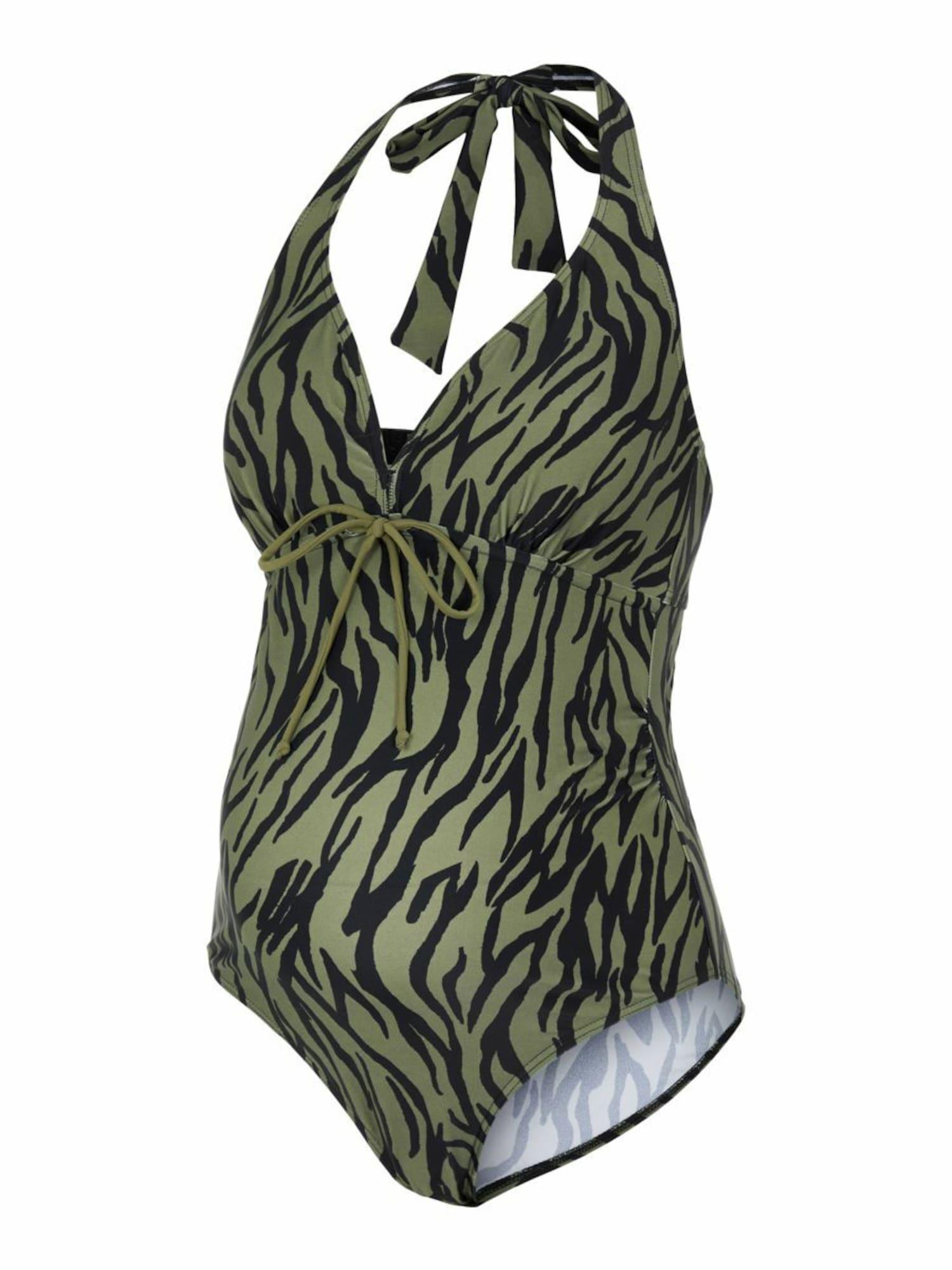 MAMALICIOUS Jednodielne plavky 'Tenja'  olivová / čierna