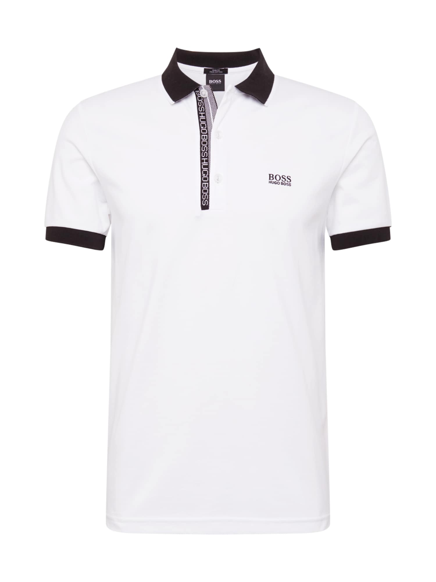 BOSS ATHLEISURE Tričko 'Paule 4'  černá / bílá