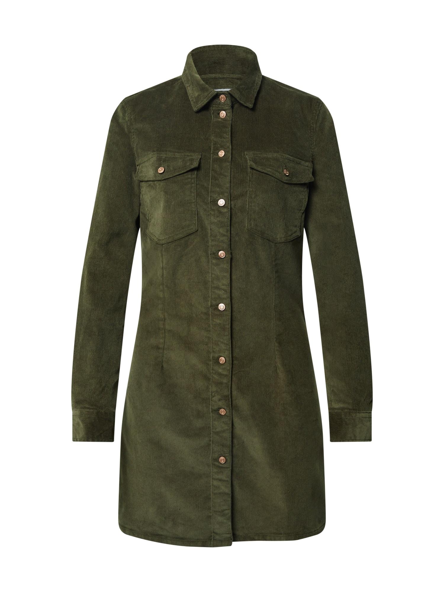 Noisy may Košeľové šaty  olivová