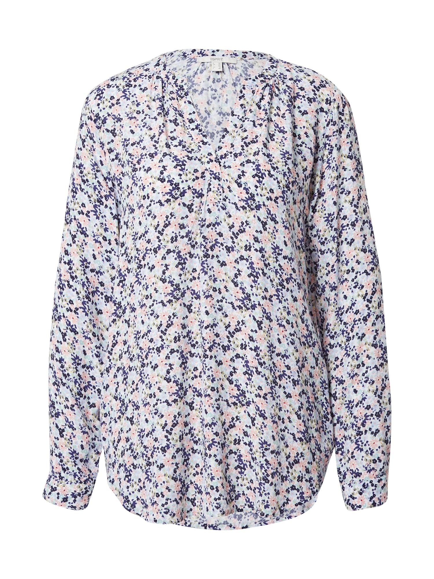 ESPRIT Tunika balta / tamsiai violetinė / azuro / rožių spalva