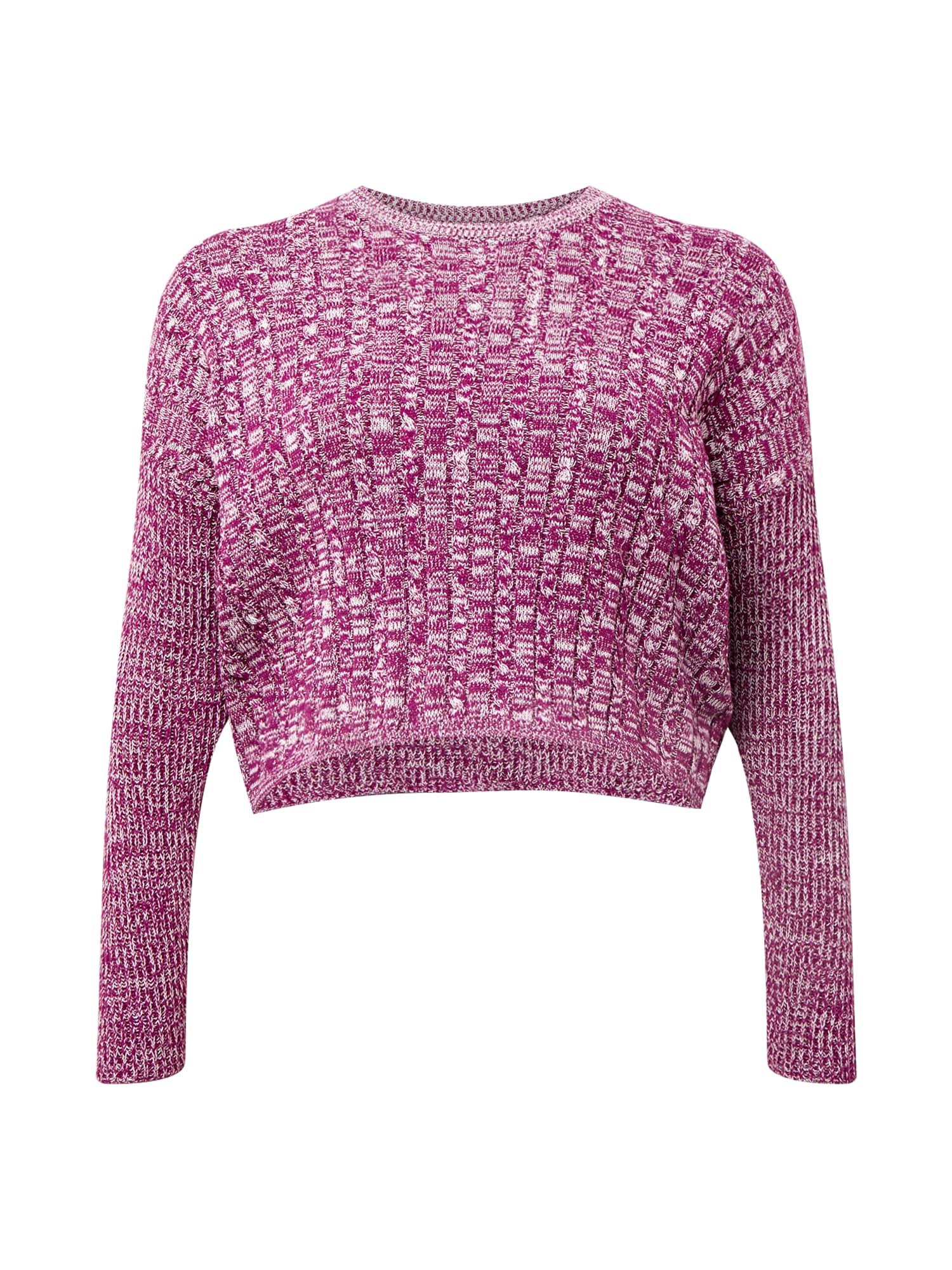 Cotton On Curve Megztinis 'Riley' rausvai violetinė