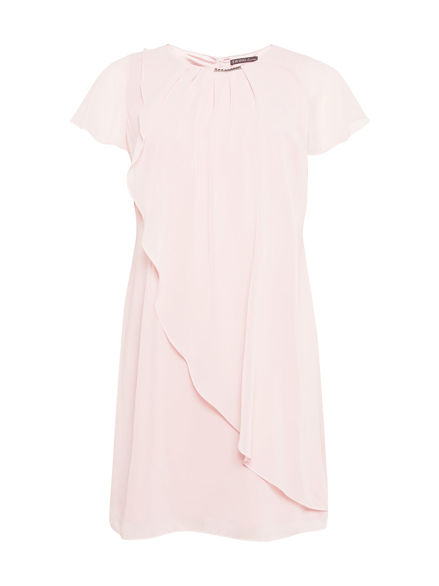 SWING Curve Kokteilinė suknelė pastelinė rožinė