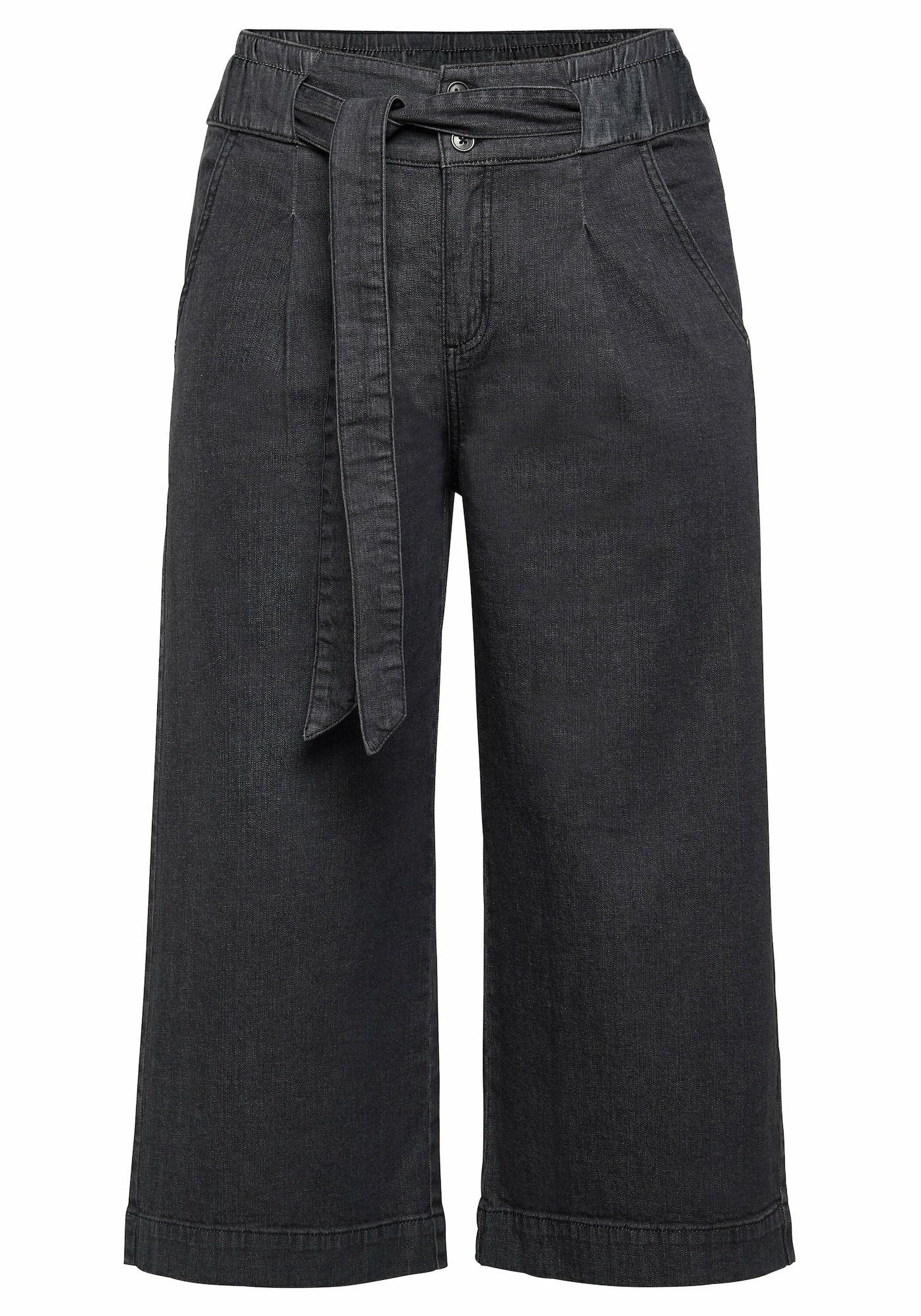 SHEEGO Džinsai su kantu juodo džinso spalva