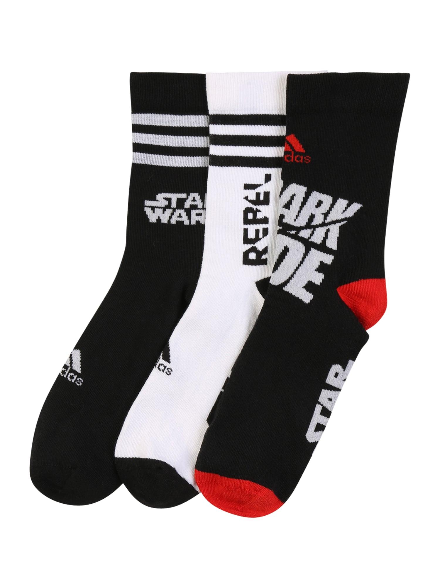 ADIDAS PERFORMANCE Sportinės kojinės raudona / juoda / balta